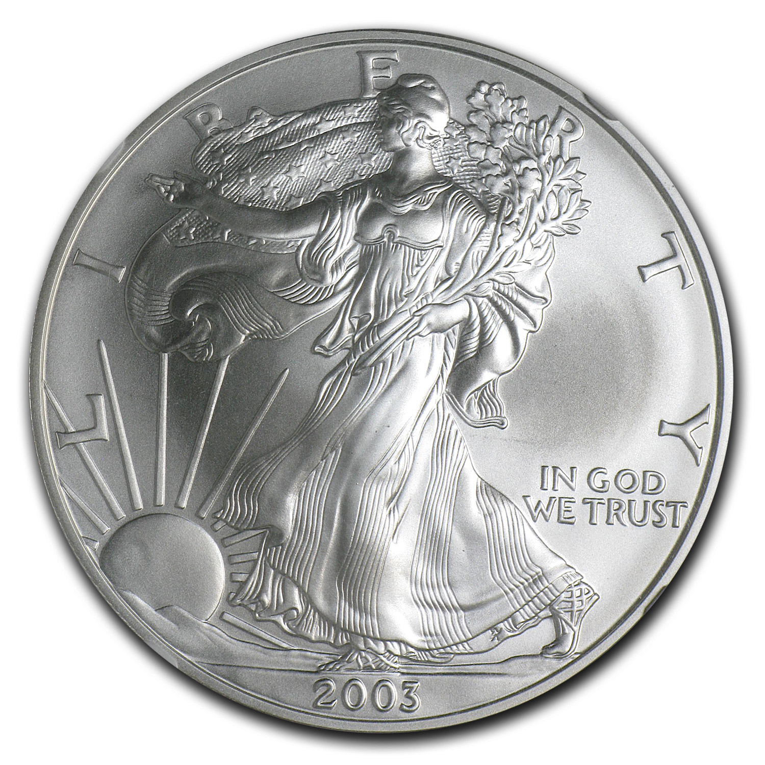 2003 Silver American Eagle Ms 70 Ngc Silver Eagles West