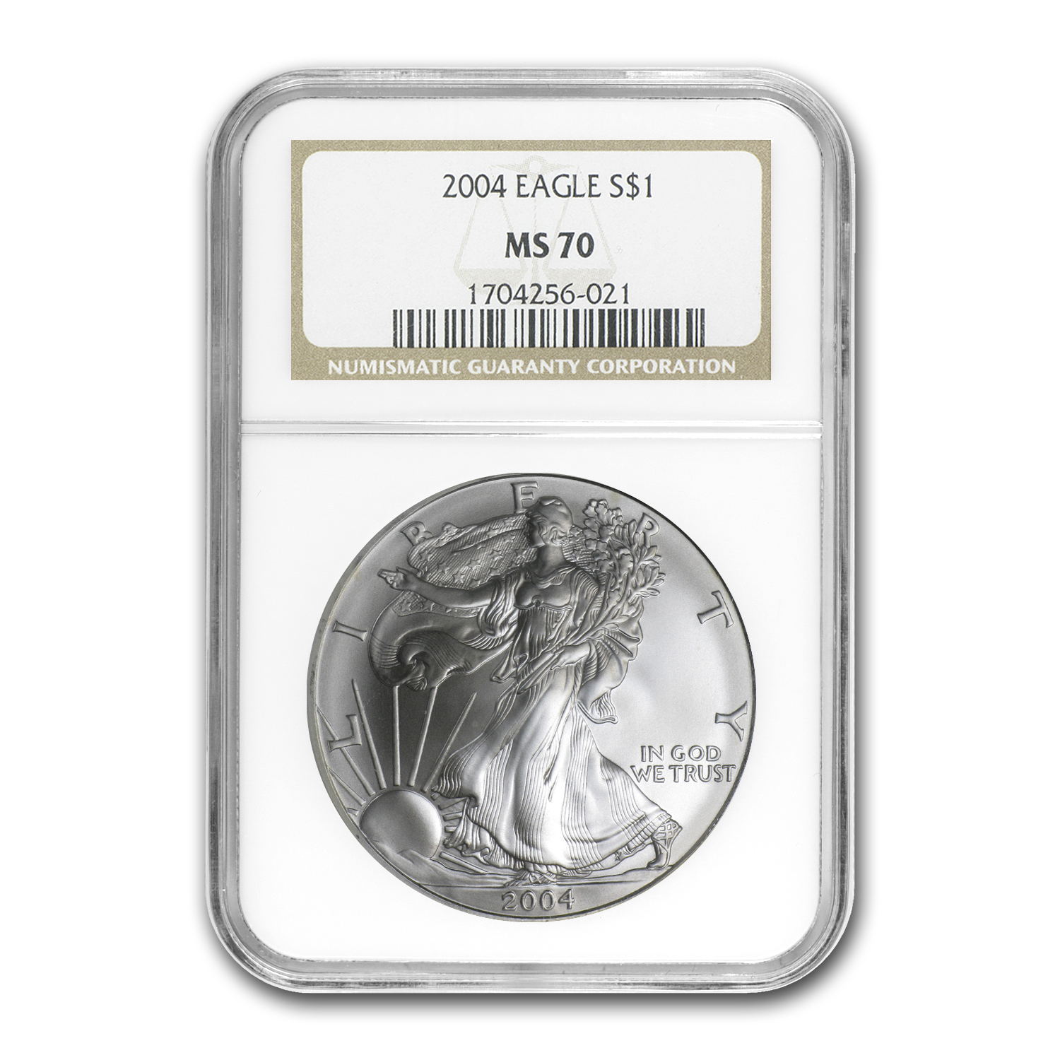 2004 Silver American Eagle MS-70 NGC