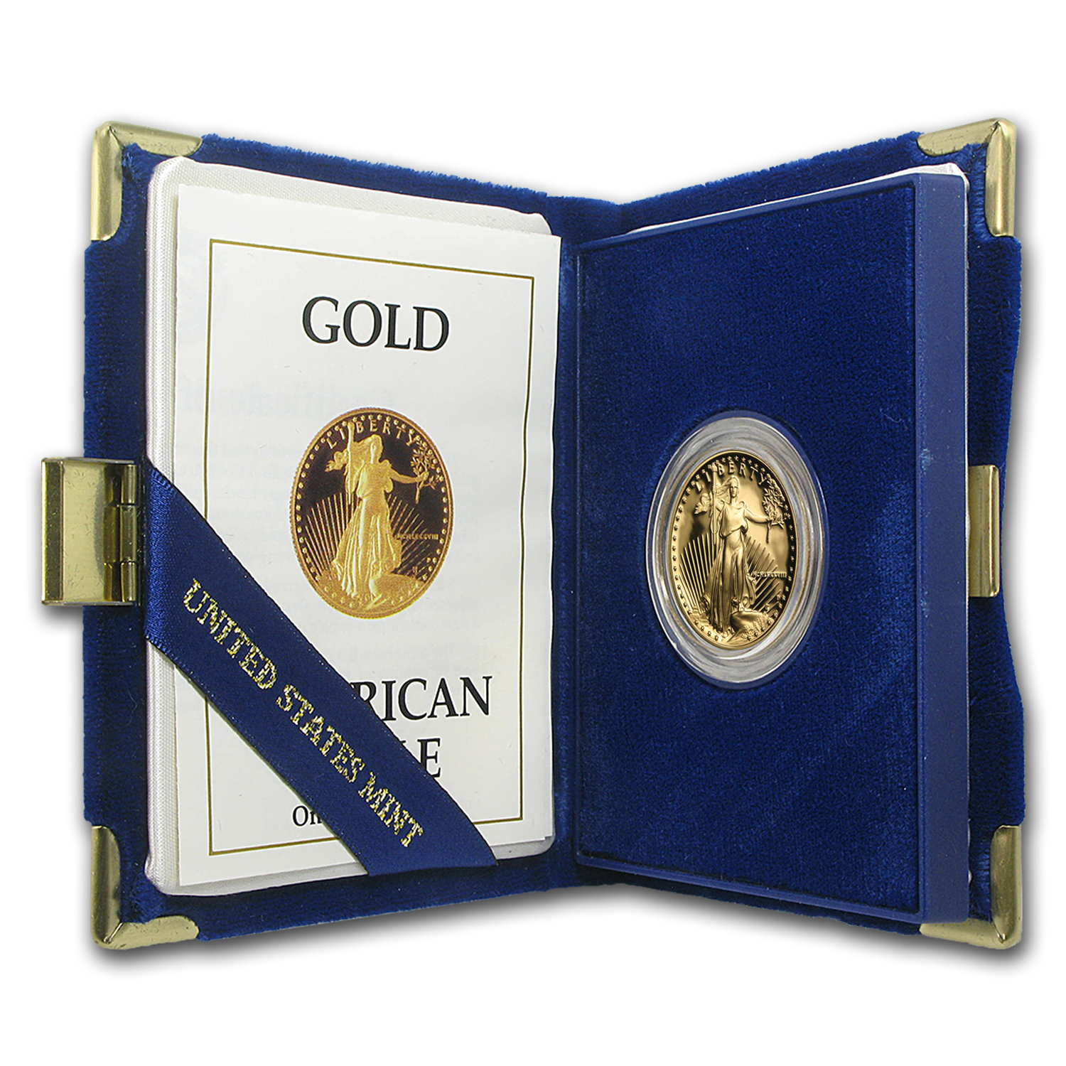 1988-P 1/2 oz Proof Gold American Eagle (w/Box & COA)