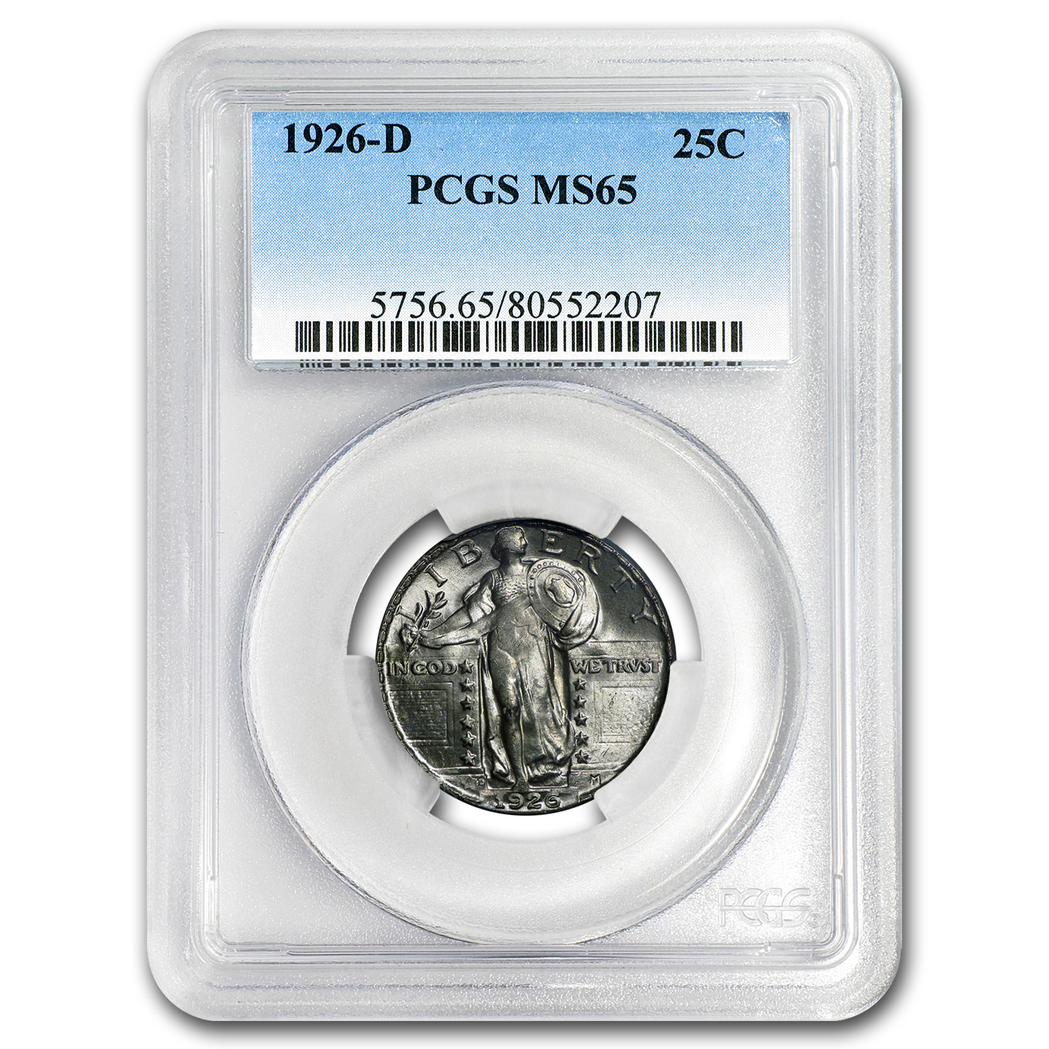 1926-D Standing Liberty Quarter MS-65 PCGS