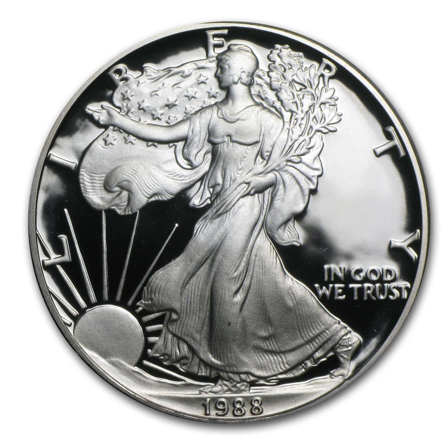 1988-S 1 oz Proof Silver American Eagle (w/Box & COA)