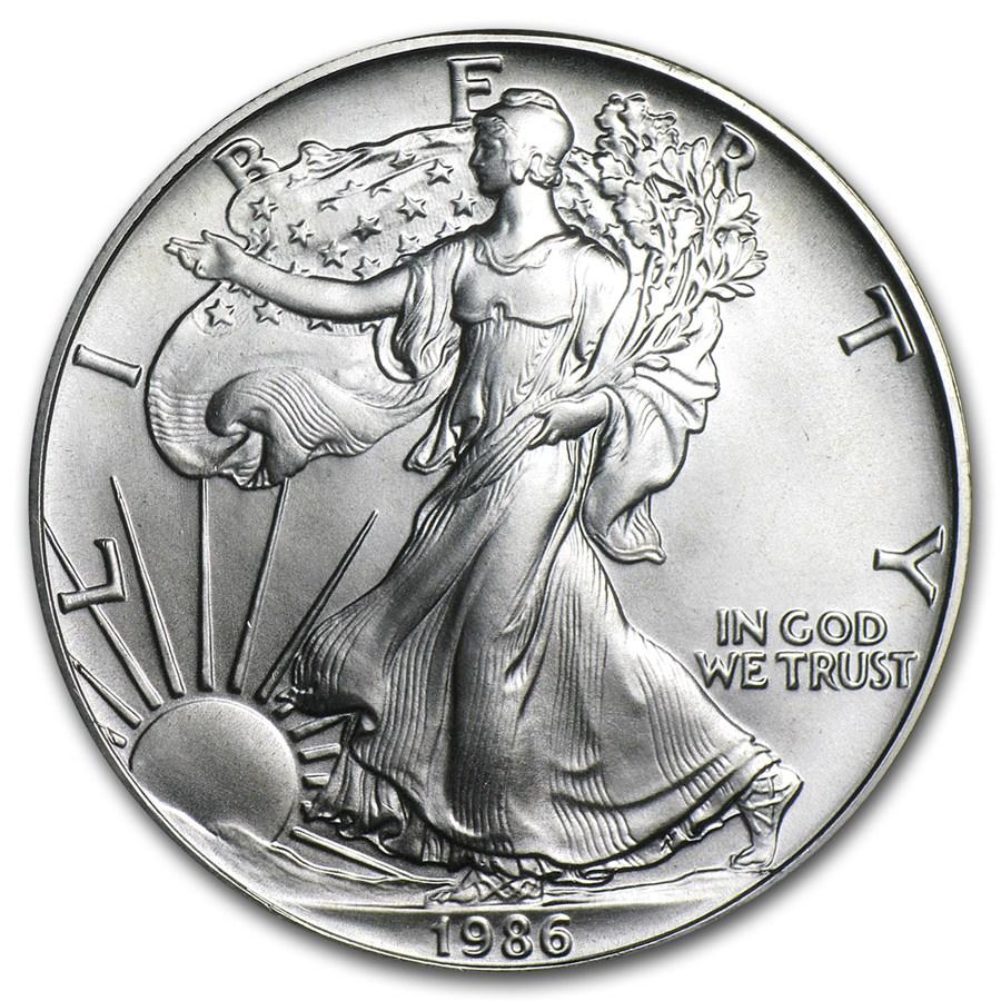 1986 Silver Eagle Dollar American Silver Eagles Apmex