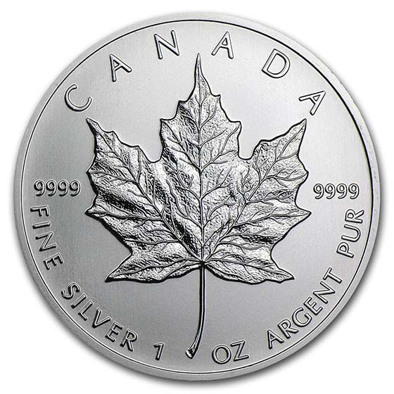Canada 1 oz Silver Maple Leaf (Random Year)