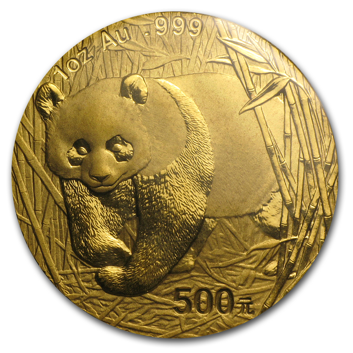 2001 China 1 oz Gold Panda BU (Sealed)