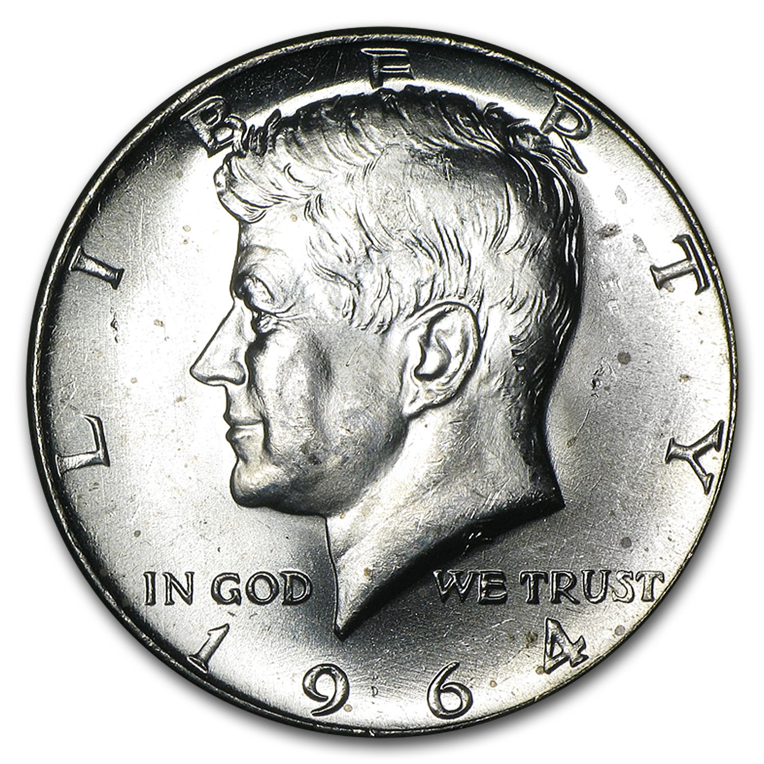 90% Silver Kennedy Halves $10 20-Coin Roll BU (1964-P &/or D)