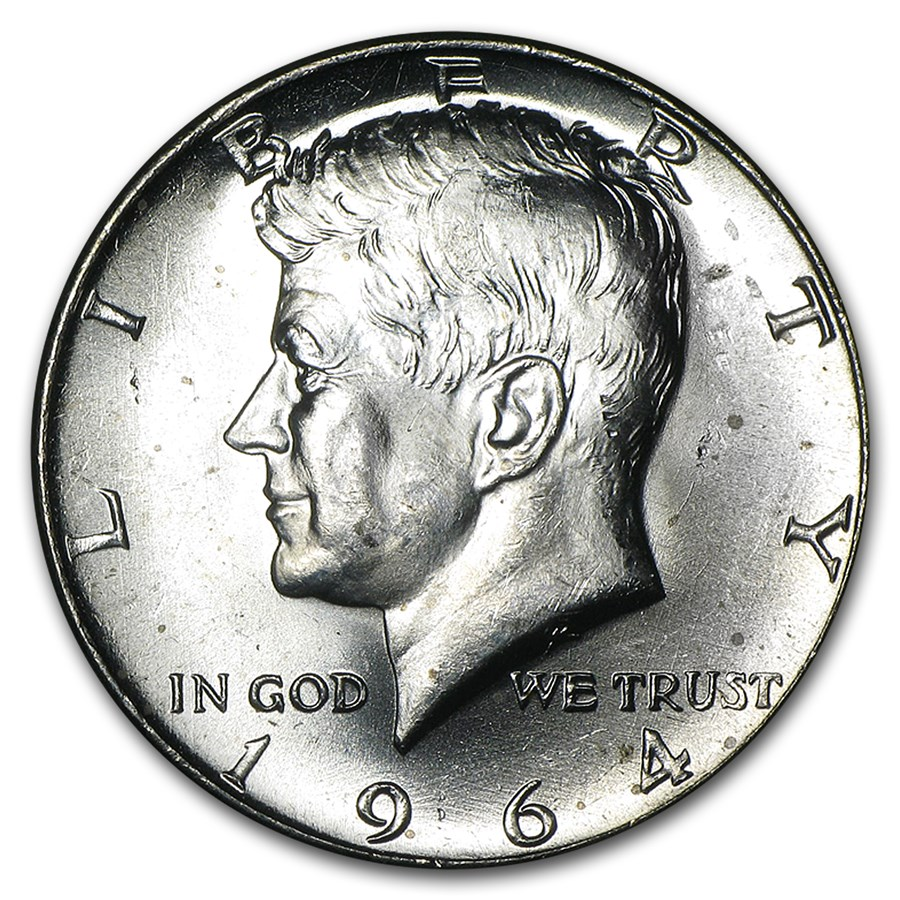 90 Silver Kennedy Halves 10 20 Coin Roll Bu 1964