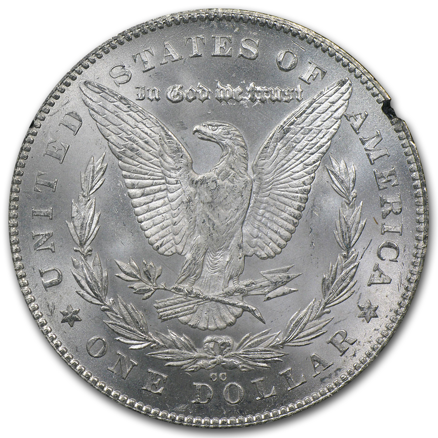 1880-CC Reverse of 1878 Morgan Dollar MS-64 NGC - GSA Certified