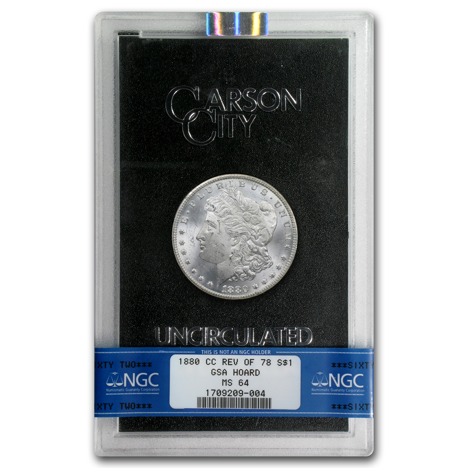 1880-CC Morgan Dollar Rev of 78 MS-64 NGC (GSA)
