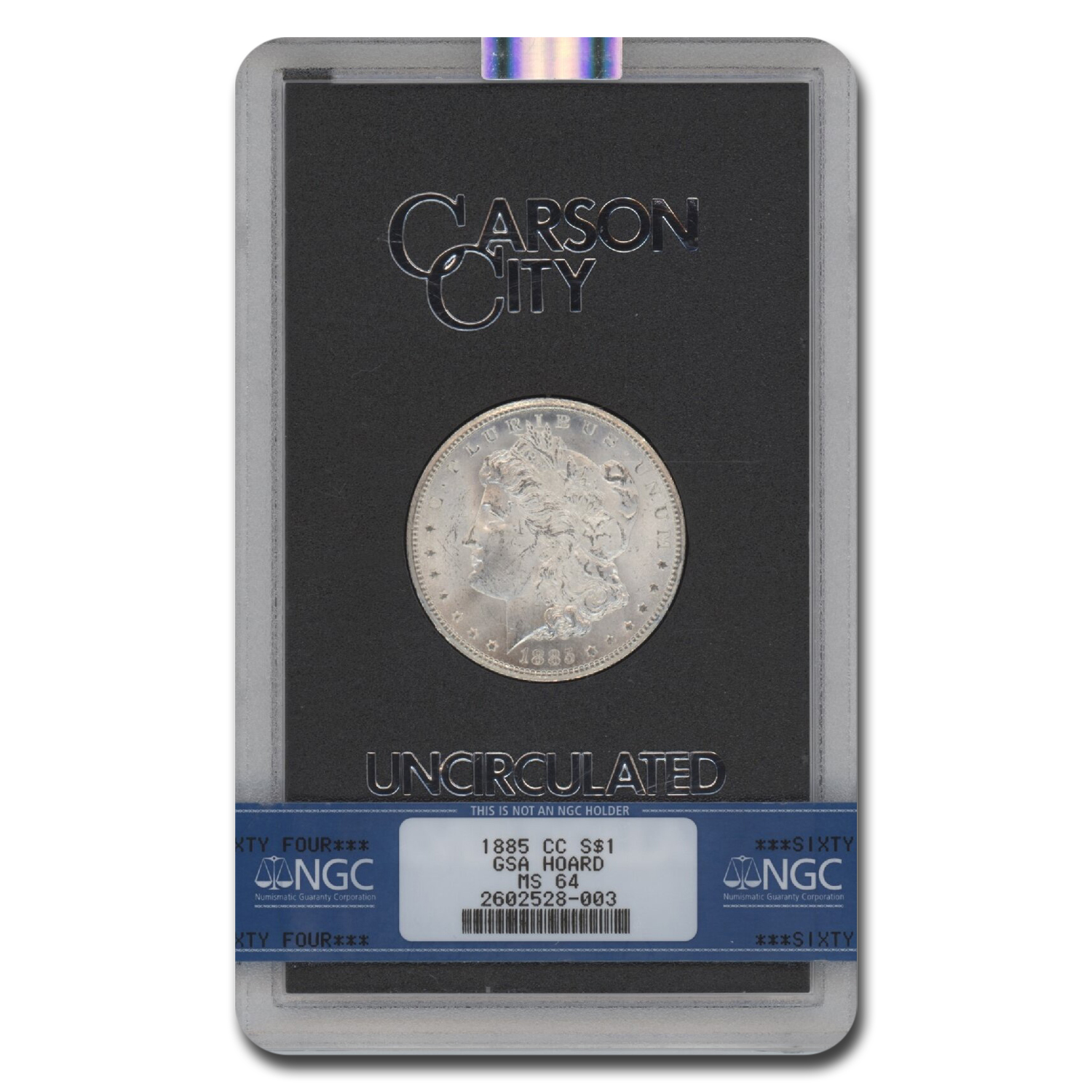 1885-CC Morgan Dollar MS-64 NGC - GSA Certified