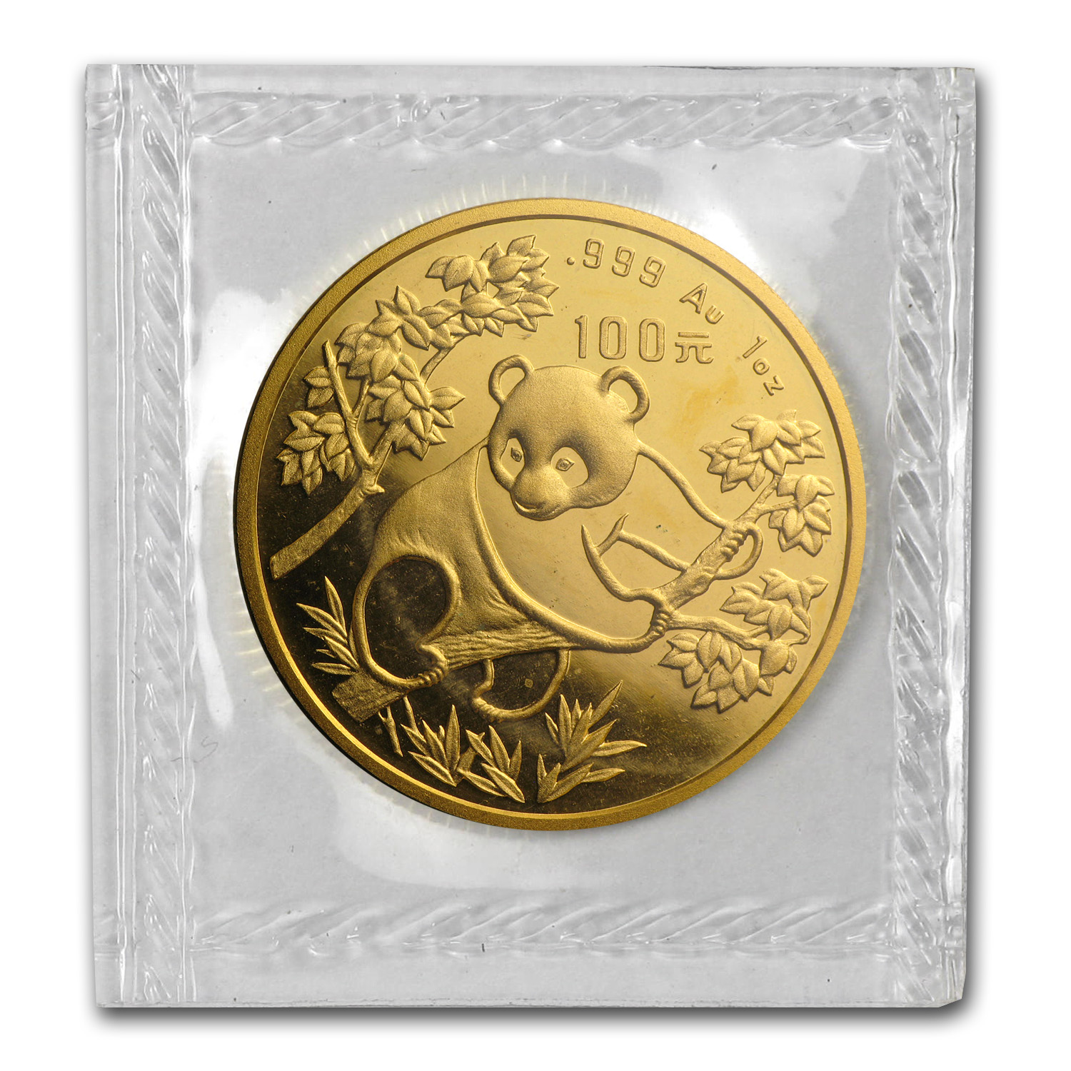 1992 1 oz Gold Chinese Panda Small Date BU (Sealed)