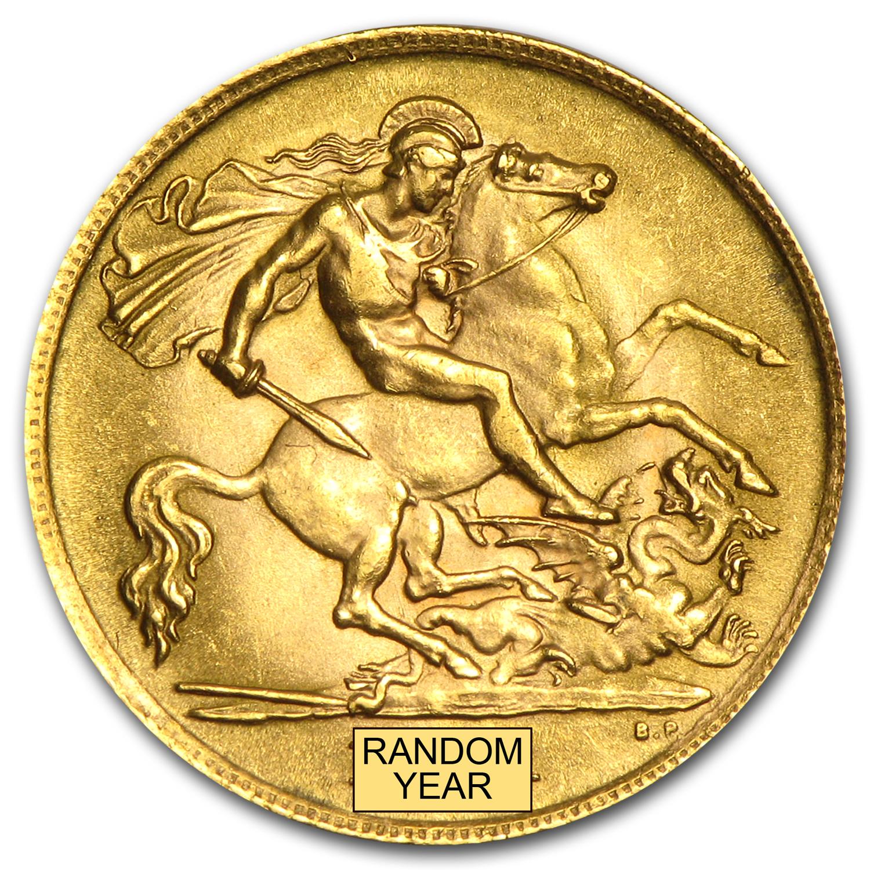 Great Britain Gold 1 2 Sovereign Average Circ Randoms