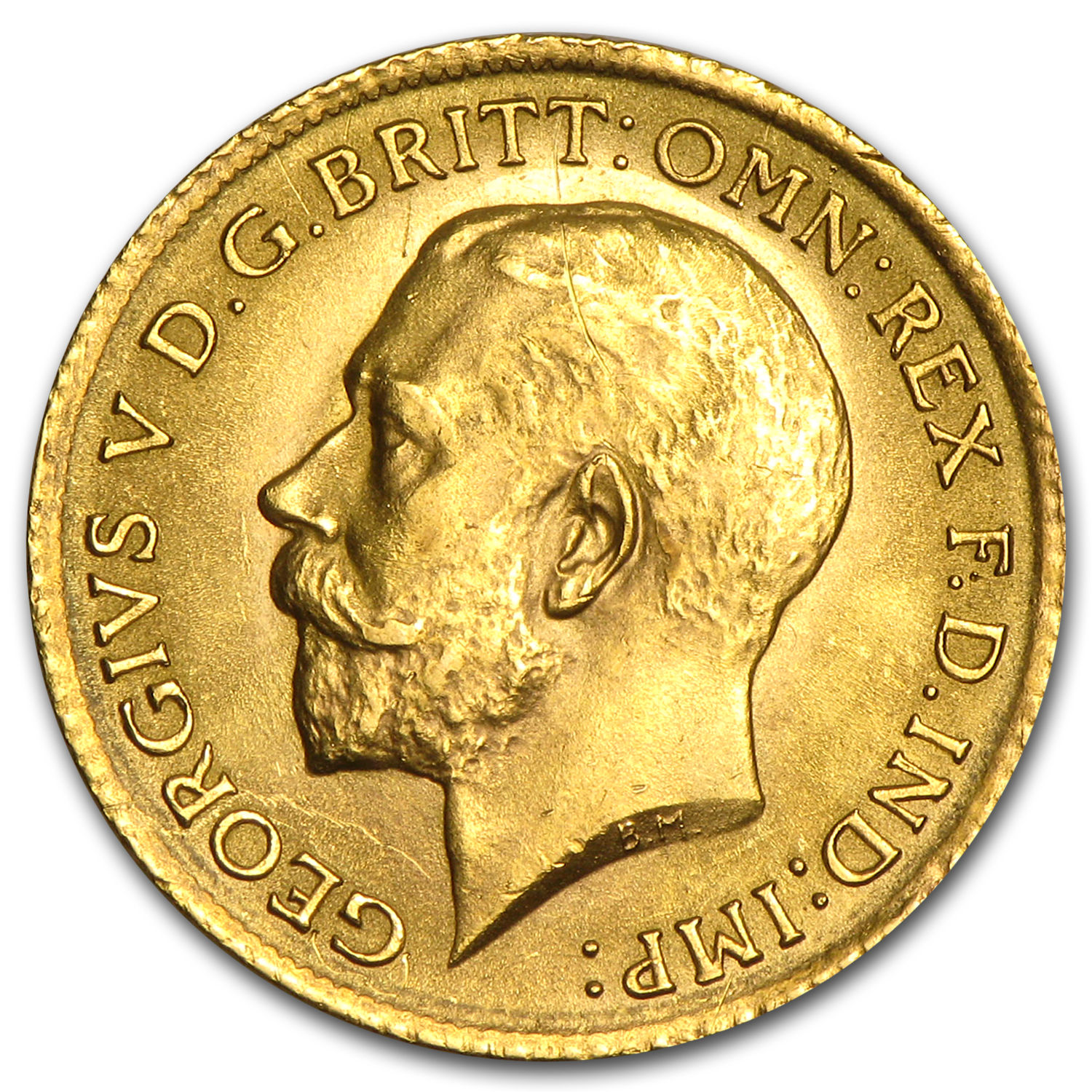 Great Britain Gold 1/2 Sovereign Average Circ