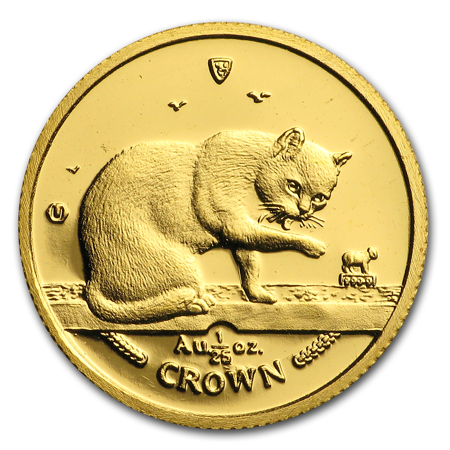 1999 Isle of Man 1/25 oz Gold British Blue Cat