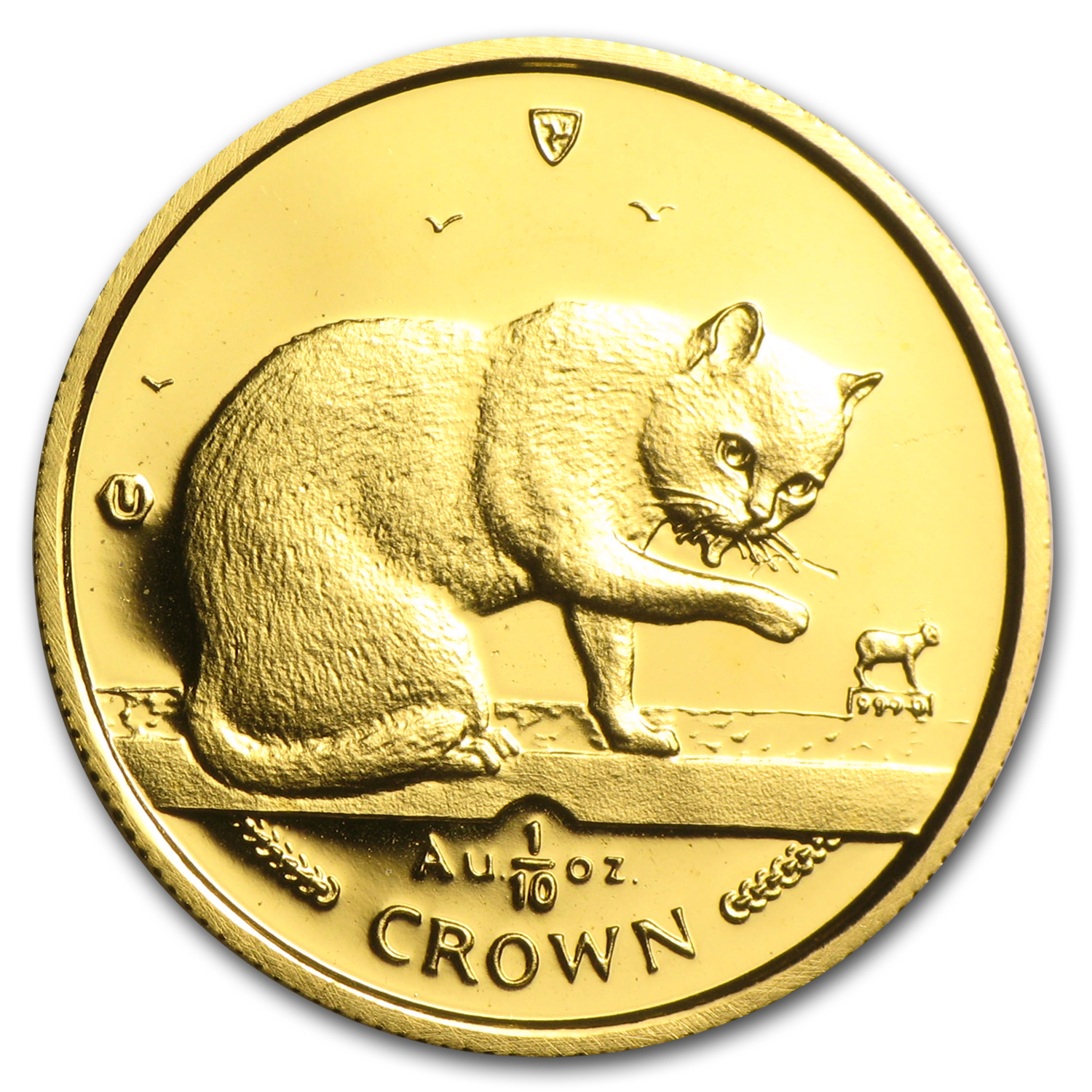 1999 Isle of Man 1/10 Crown Gold BU