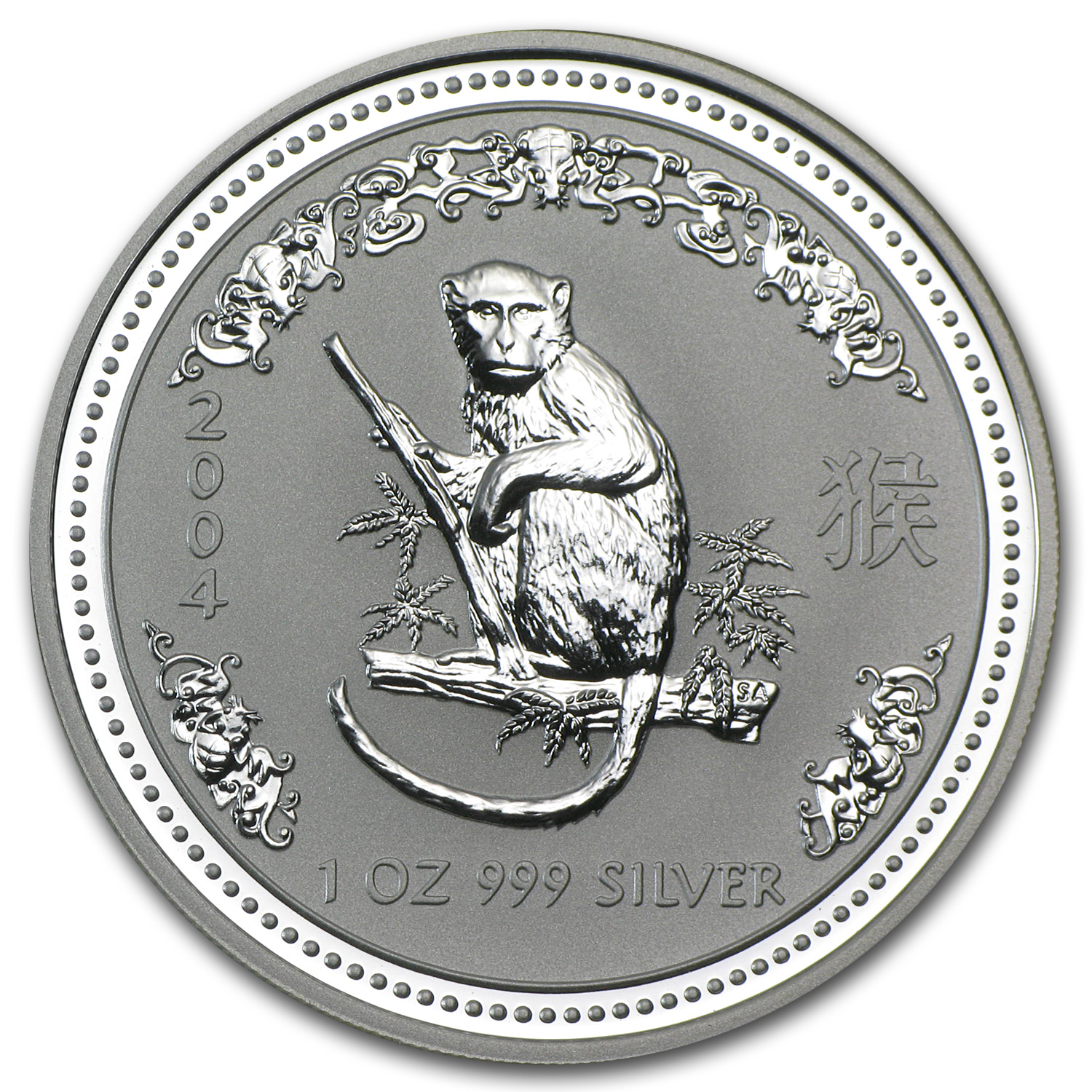 2004 Australia 1 oz Silver Year of the Monkey BU
