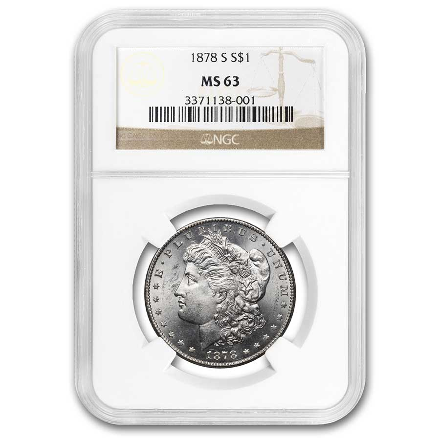 1878-S Morgan Dollar MS-63 NGC