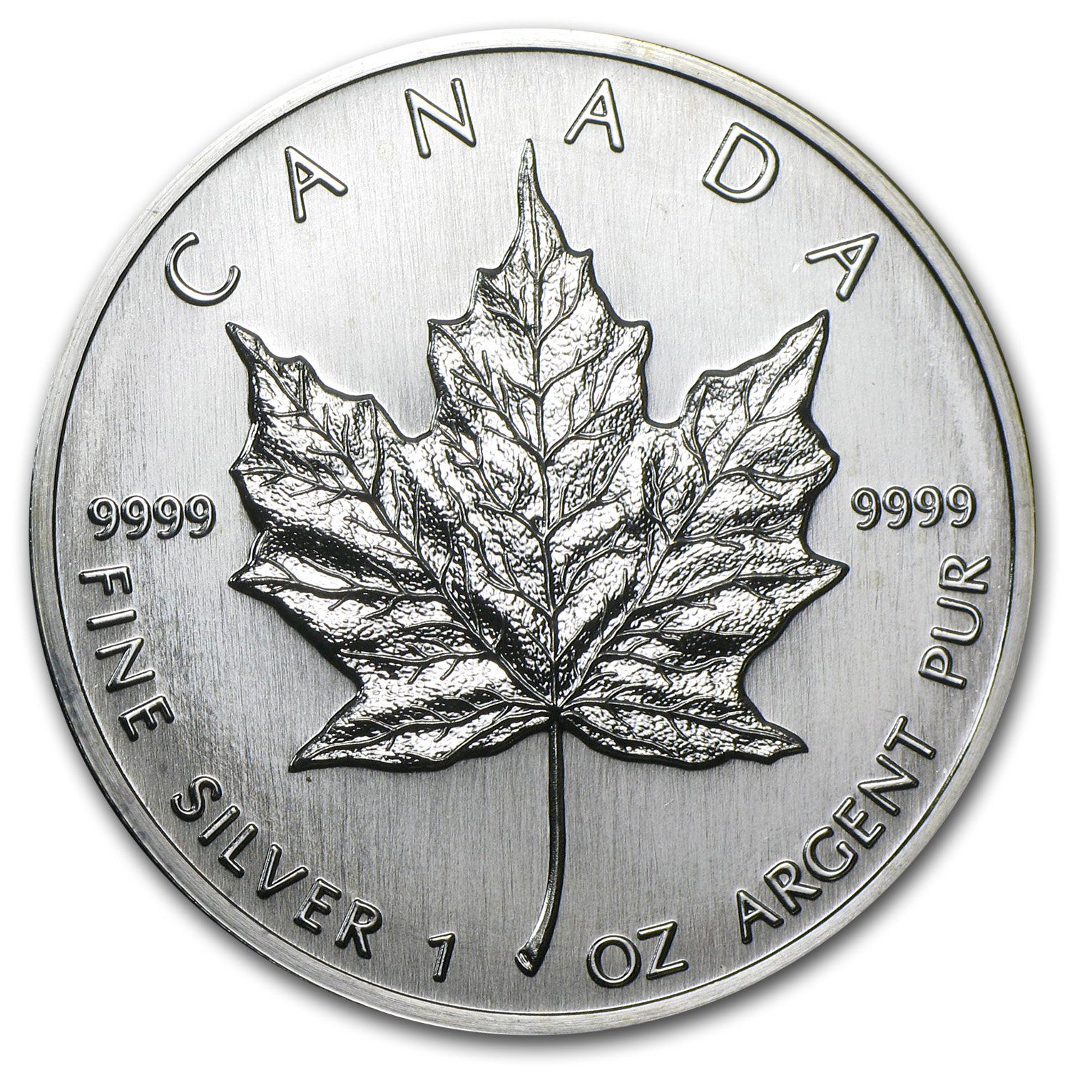 1989 1 oz Silver Canadian Maple Leaf BU