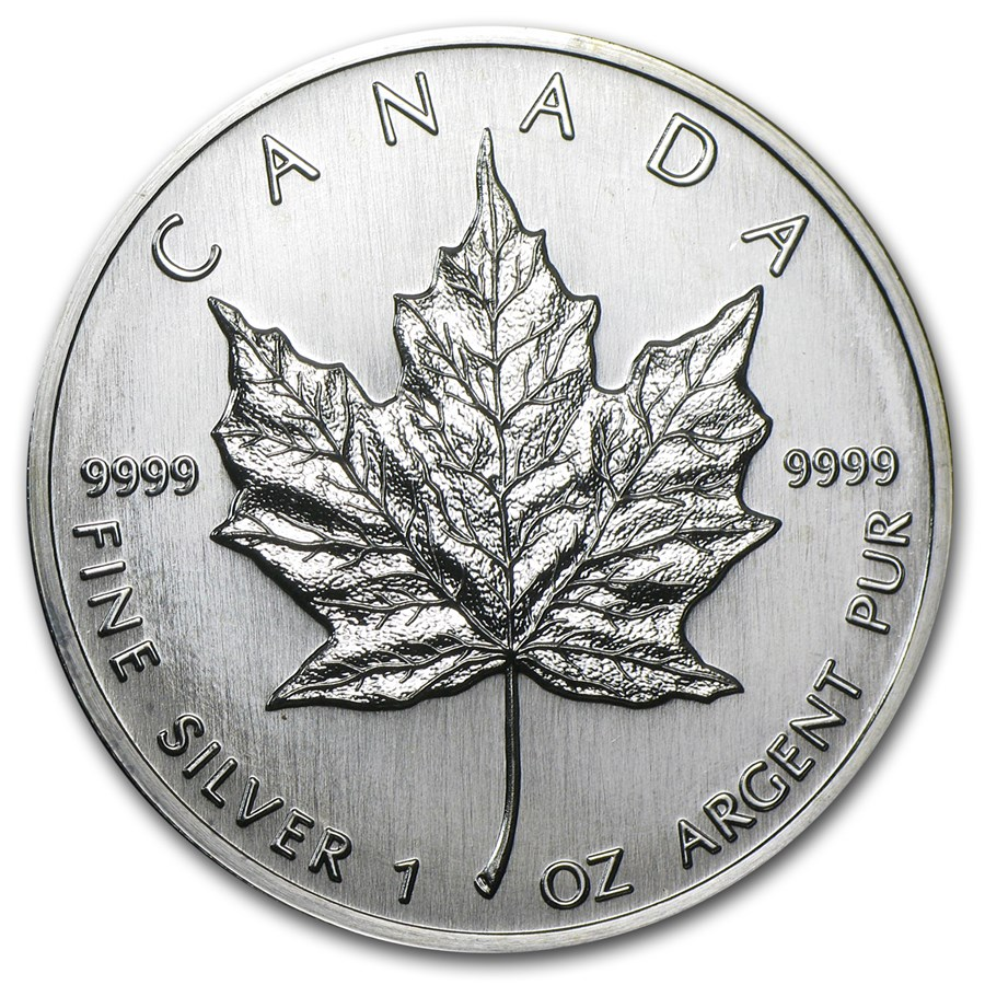 1989 Canada 1 oz Silver Maple Leaf BU | Silver Maple Leafs ...