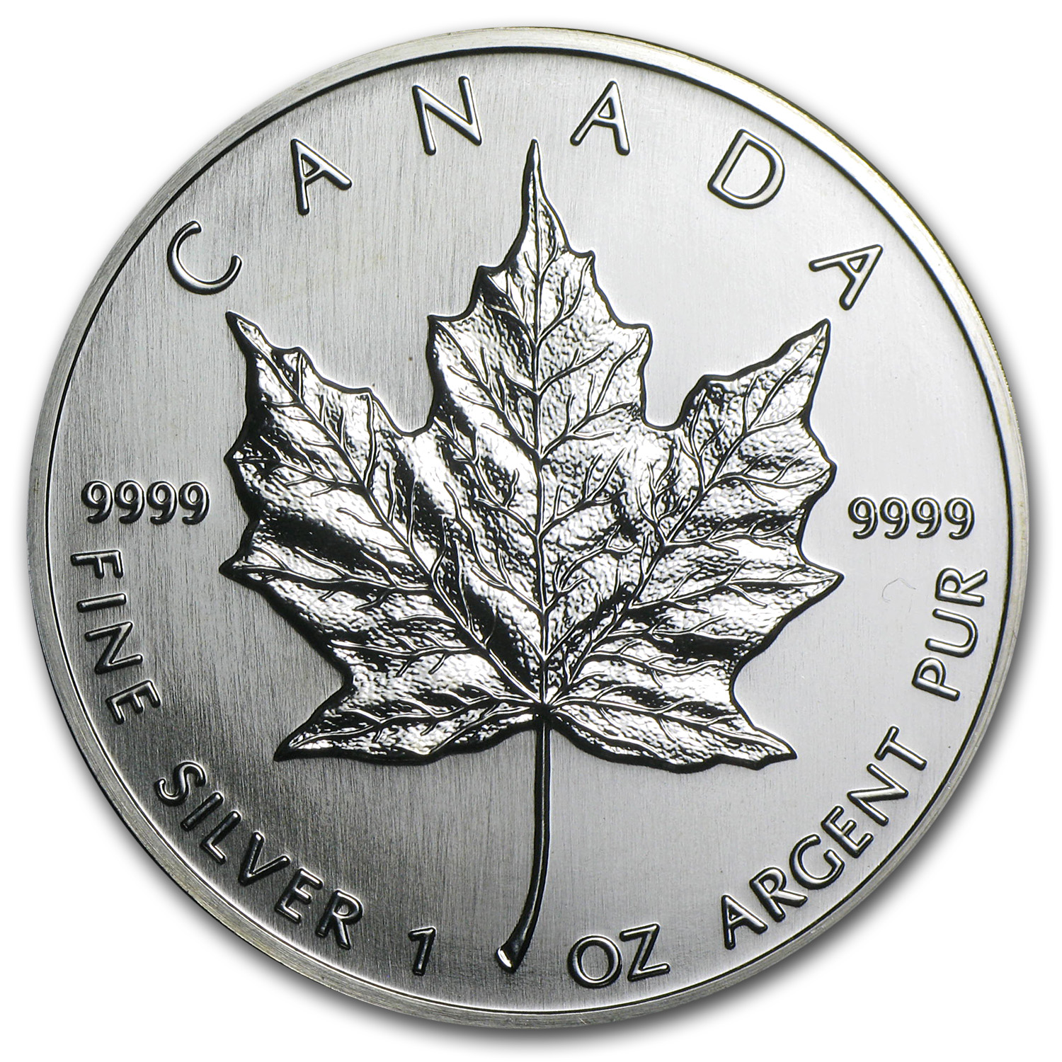 1990 1 oz Silver Canadian Maple Leaf (Brilliant Uncirculated)