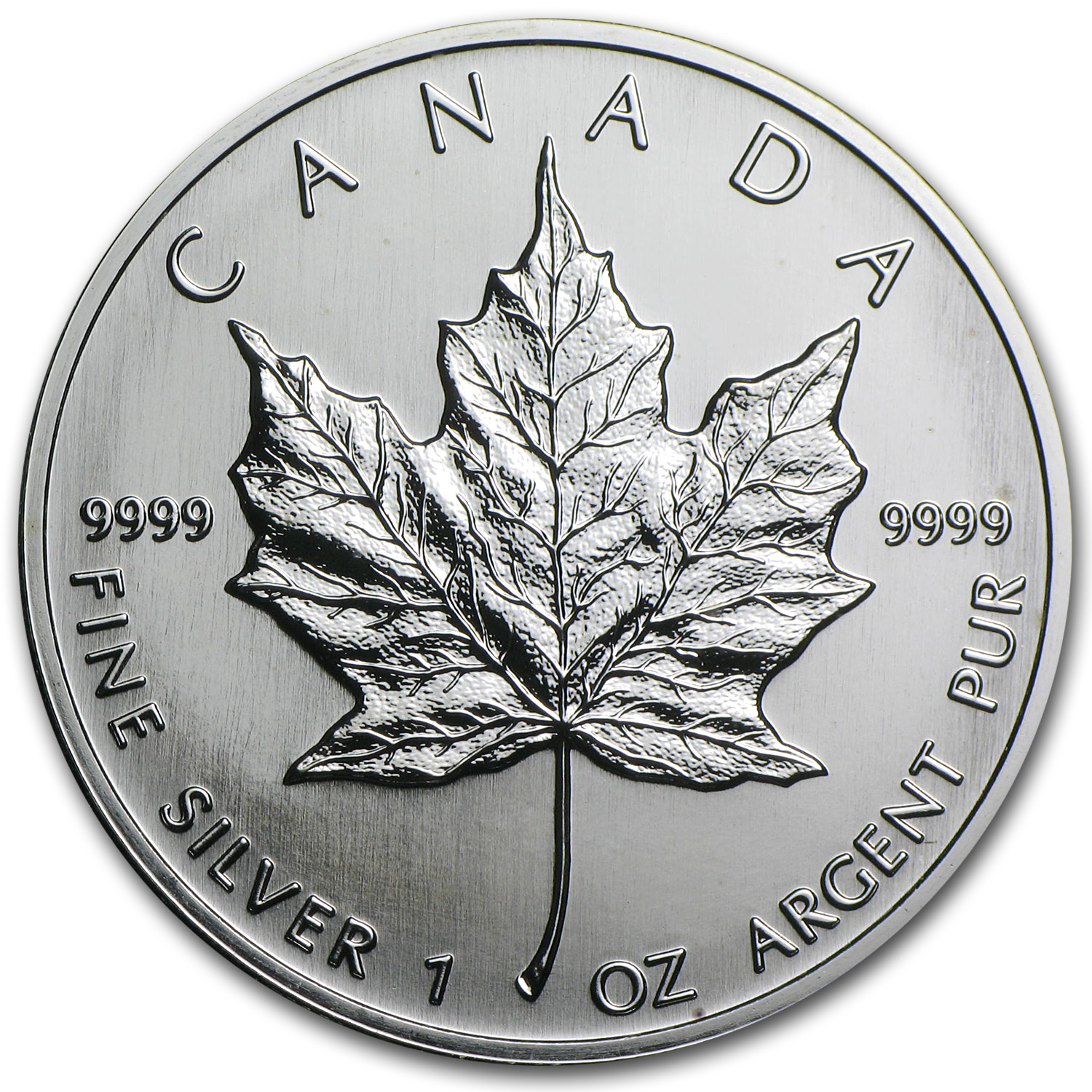 1991 1 oz Silver Canadian Maple Leaf BU