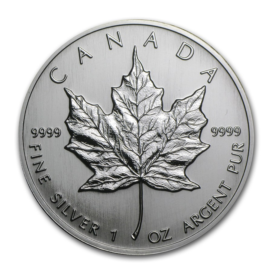 1992 Canada 1 oz Silver Maple Leaf BU | Silver Maple Leafs ...