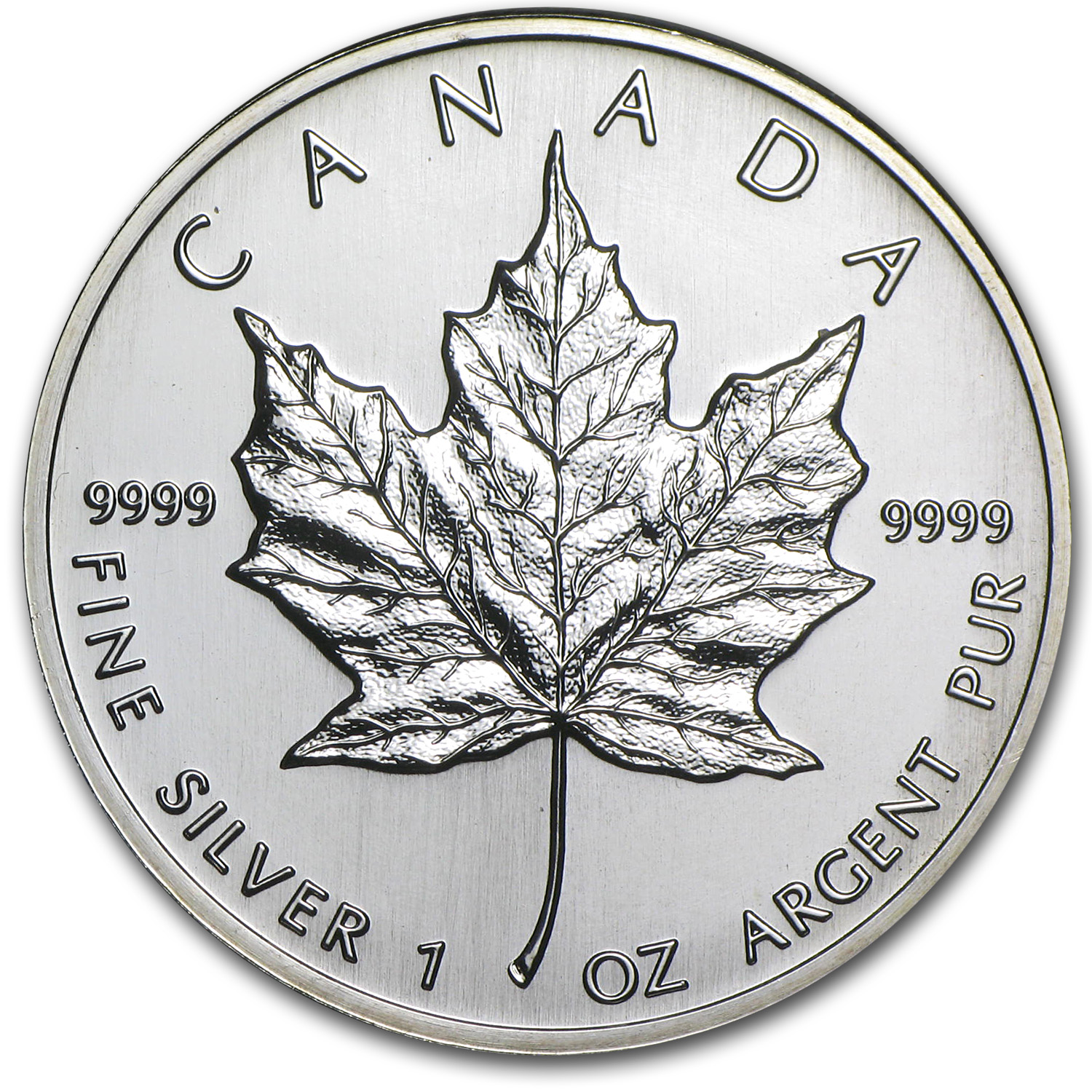 1995 1 oz Silver Canadian Maple Leaf BU