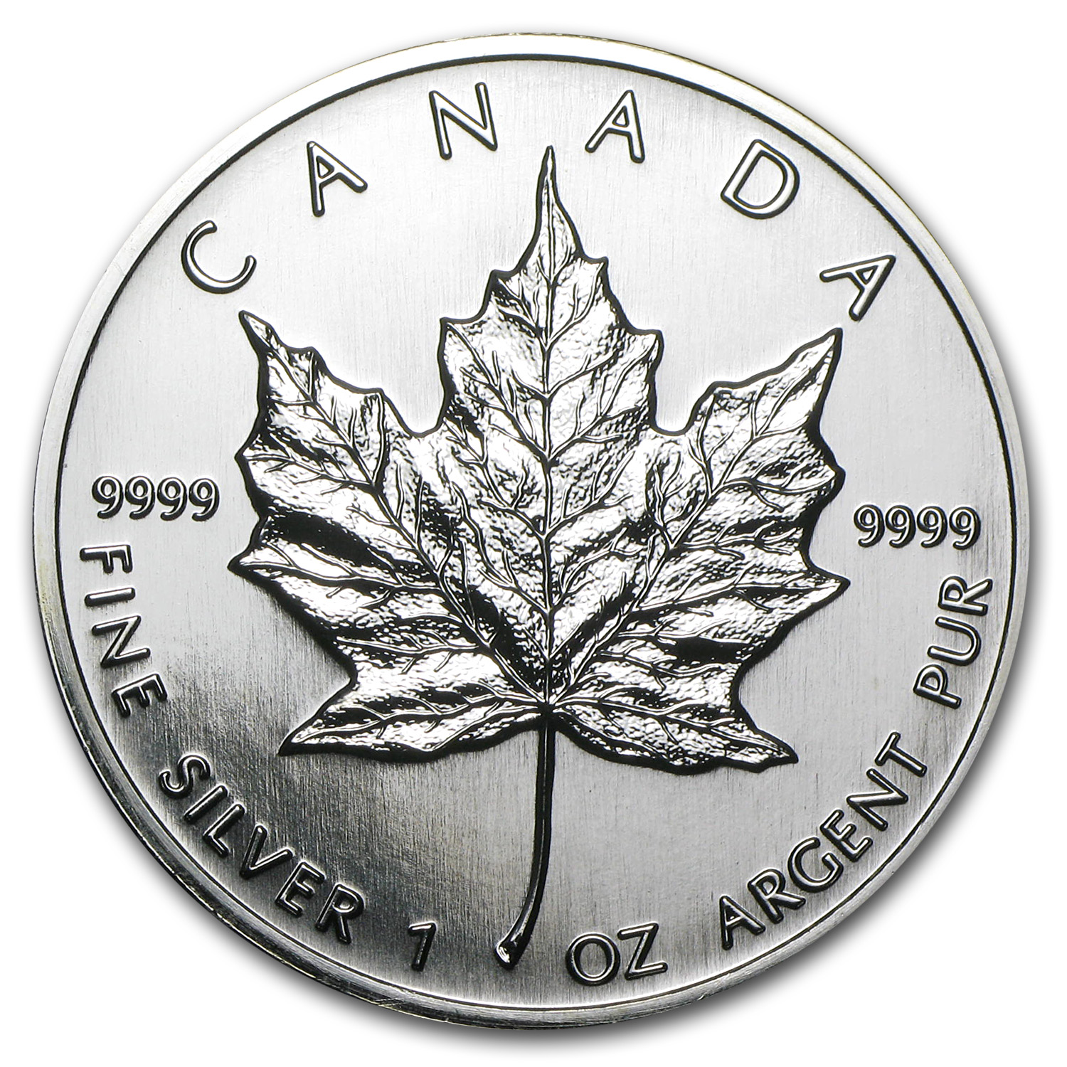 1996 1 oz Silver Canadian Maple Leaf BU