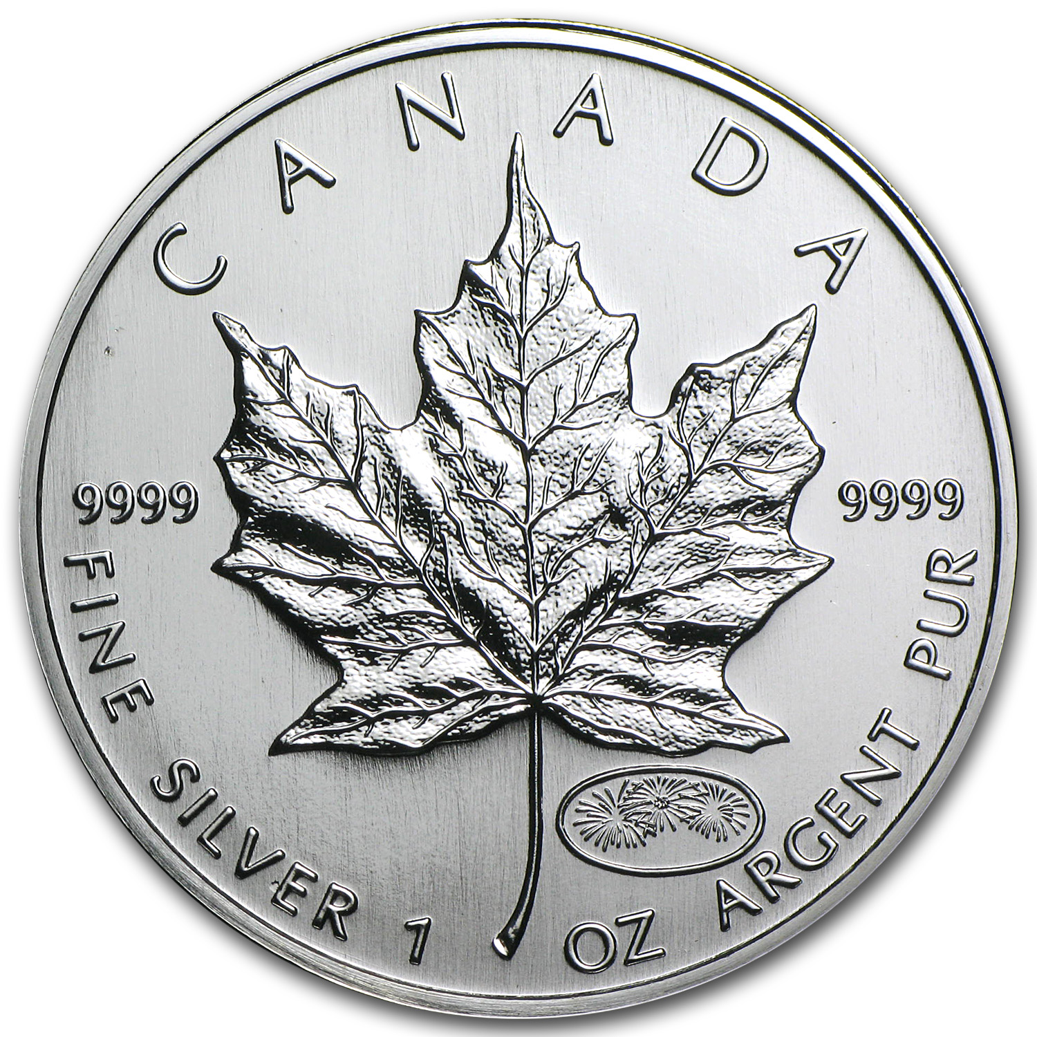1999/2000 Canada 1 oz Silver Maple Leaf Millennium Privy