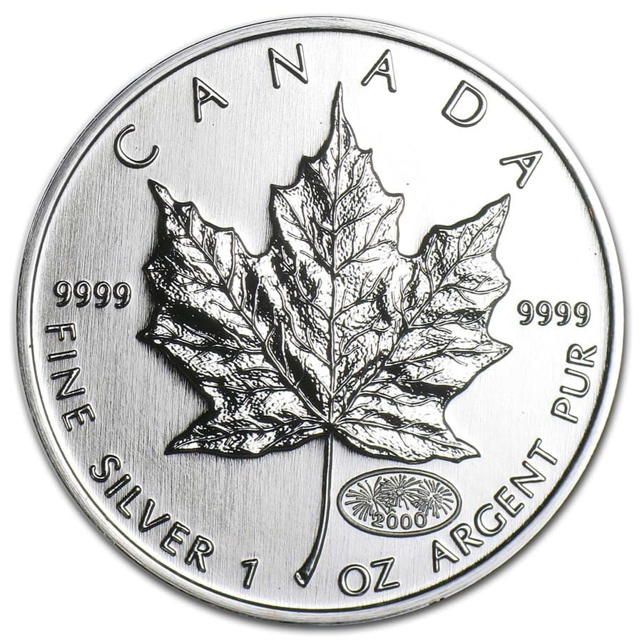 2000 1 oz Silver Canadian Maple Leaf (Brilliant Uncirculated)
