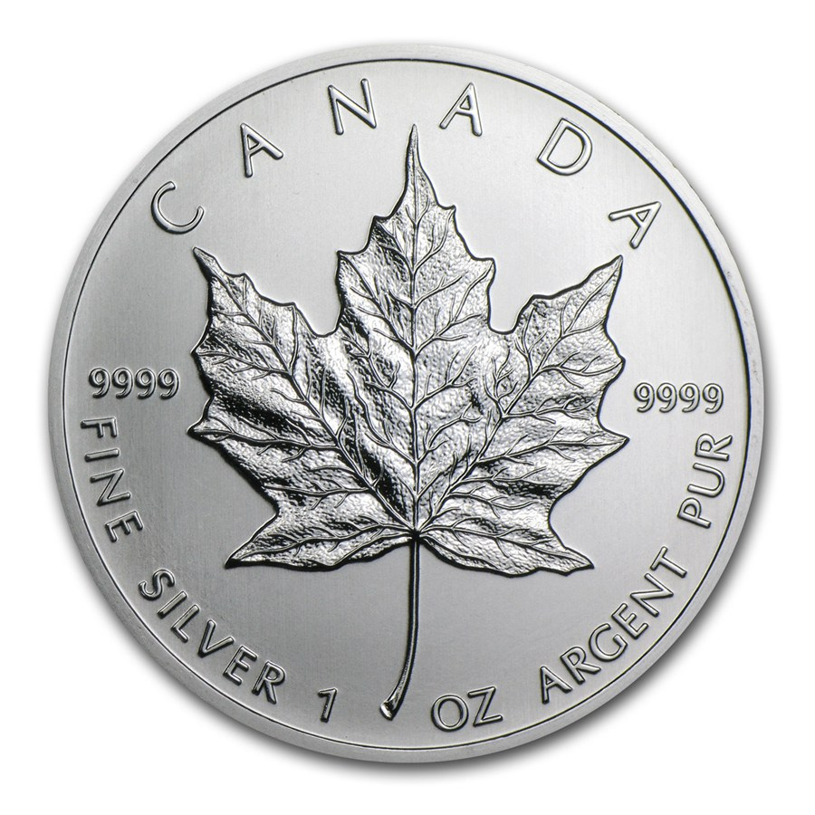 2001 Canada 1 oz Silver Maple Leaf BU | Silver Maple Leafs ...
