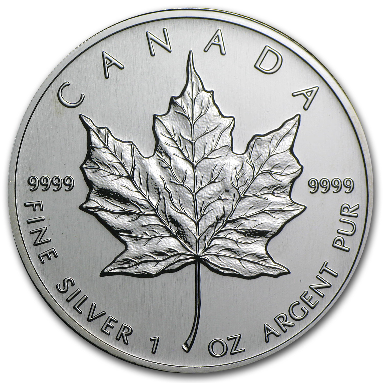 2002 1 oz Silver Canadian Maple Leaf BU