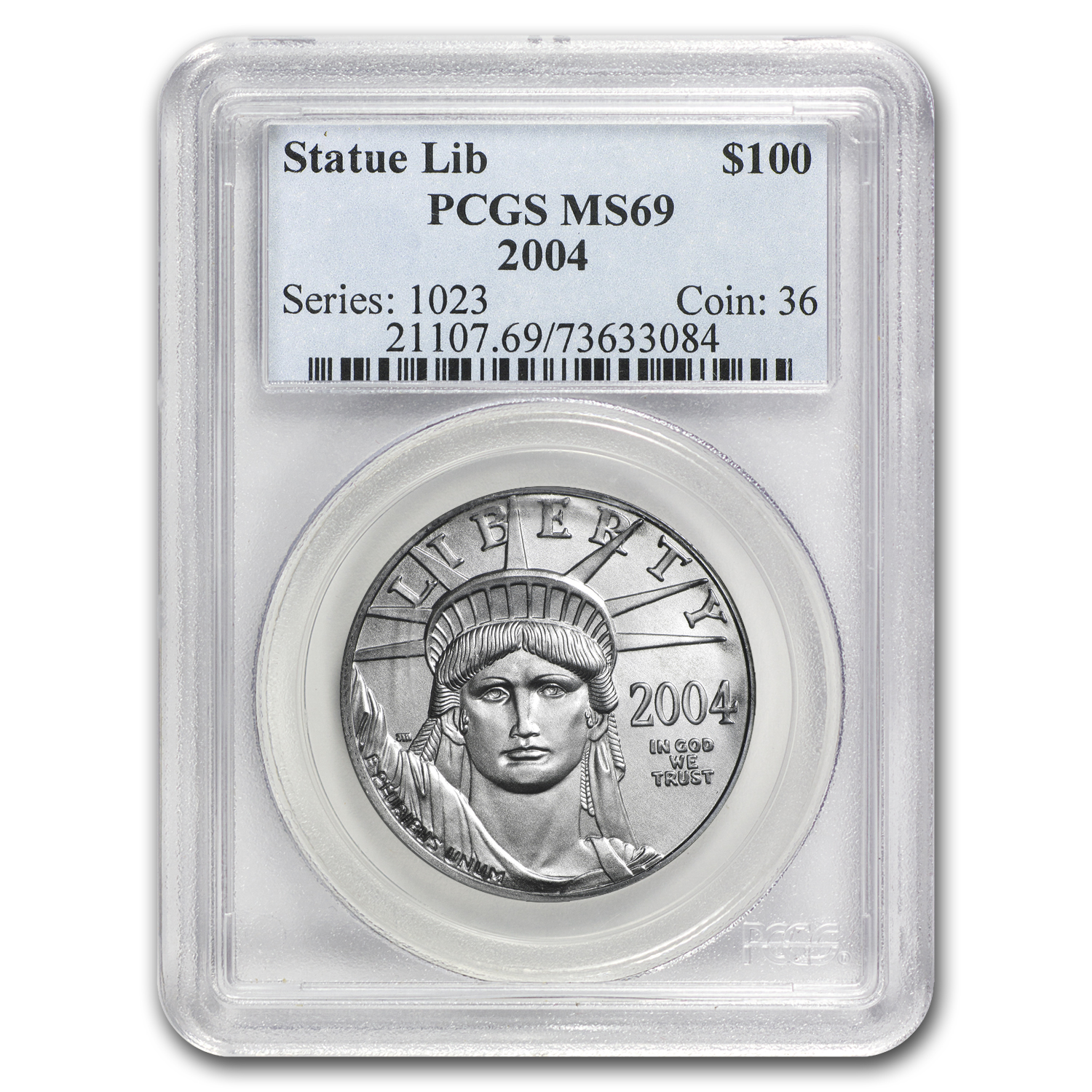 2004 1 oz Platinum American Eagle MS-69 PCGS
