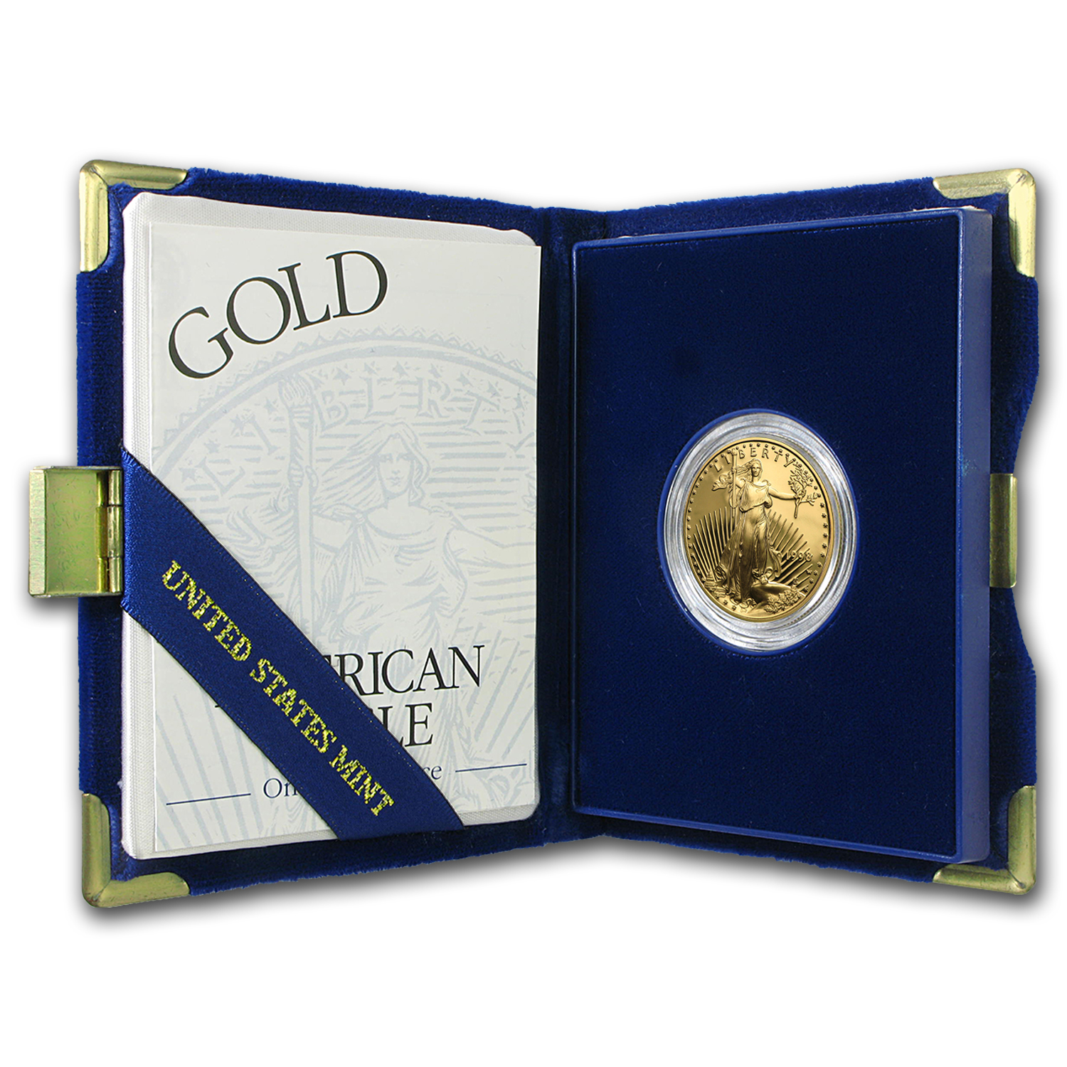 1998-W 1/2 oz Proof Gold American Eagle (w/Box & COA)