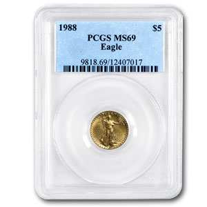1988 1/10 oz Gold American Eagle MS-69 PCGS