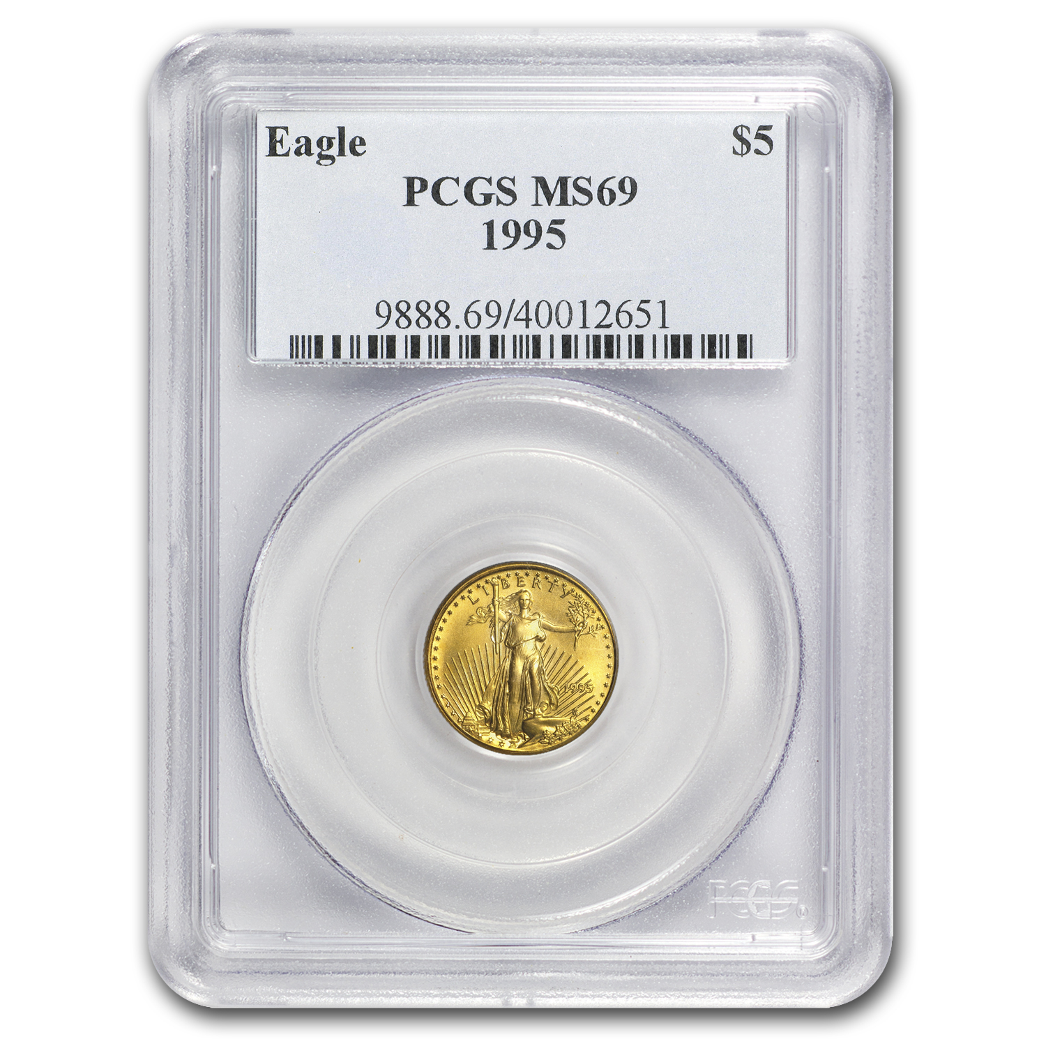 1995 1/10 oz Gold American Eagle MS-69 PCGS