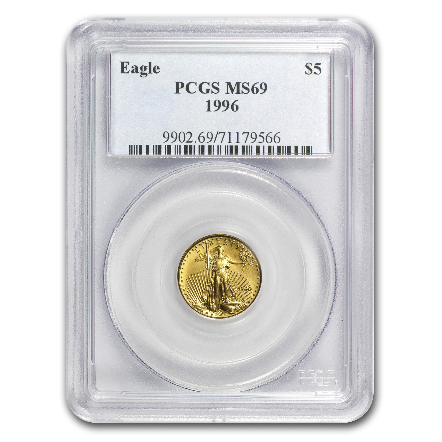 1996 1/10 oz Gold American Eagle MS-69 PCGS