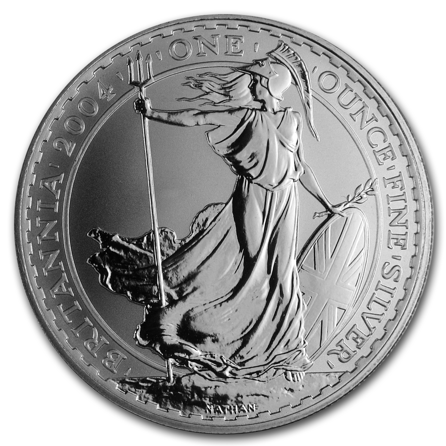 2004 1 oz Silver Britannia (Brilliant Uncirculated)