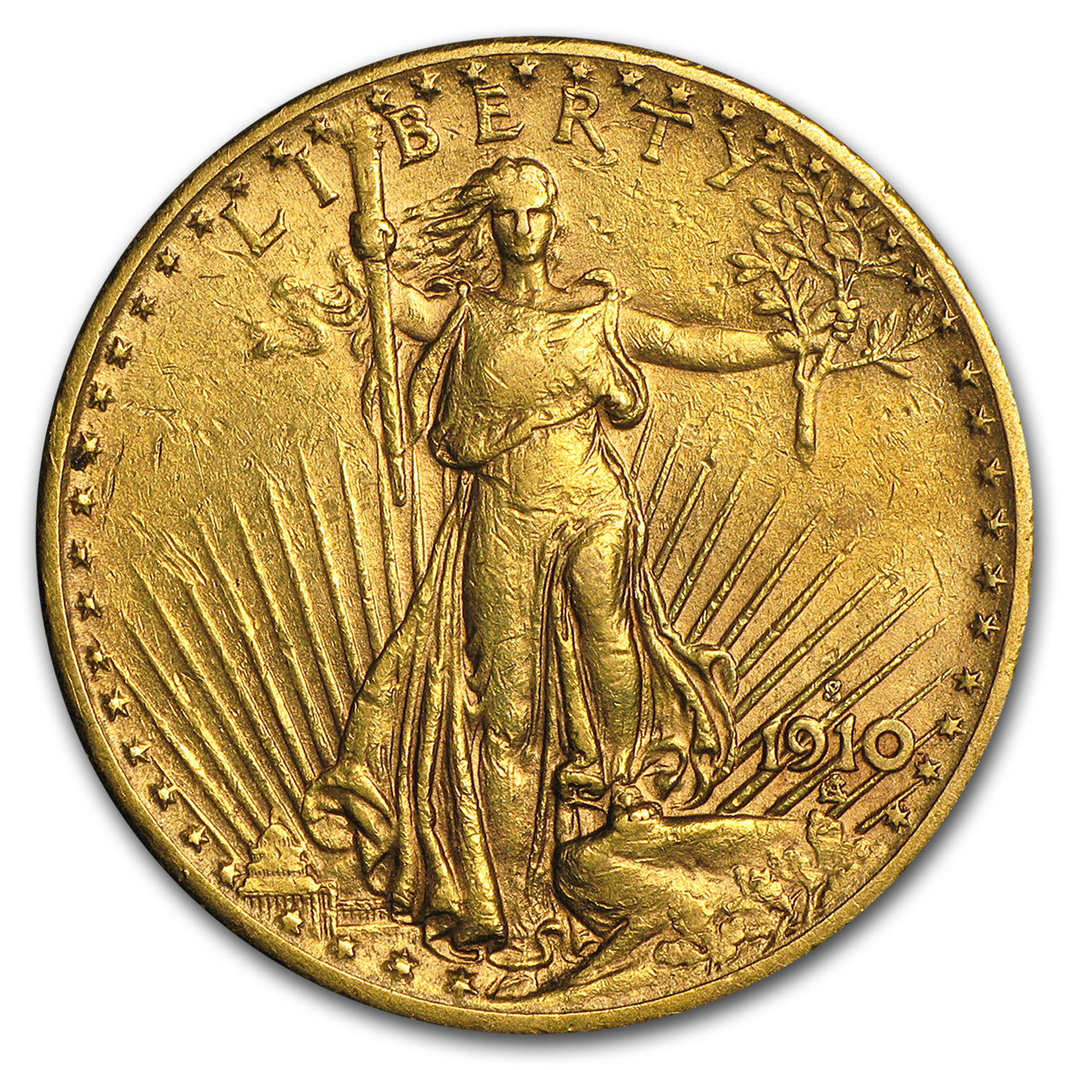 1910 $20 St. Gaudens Gold Double Eagle XF-45