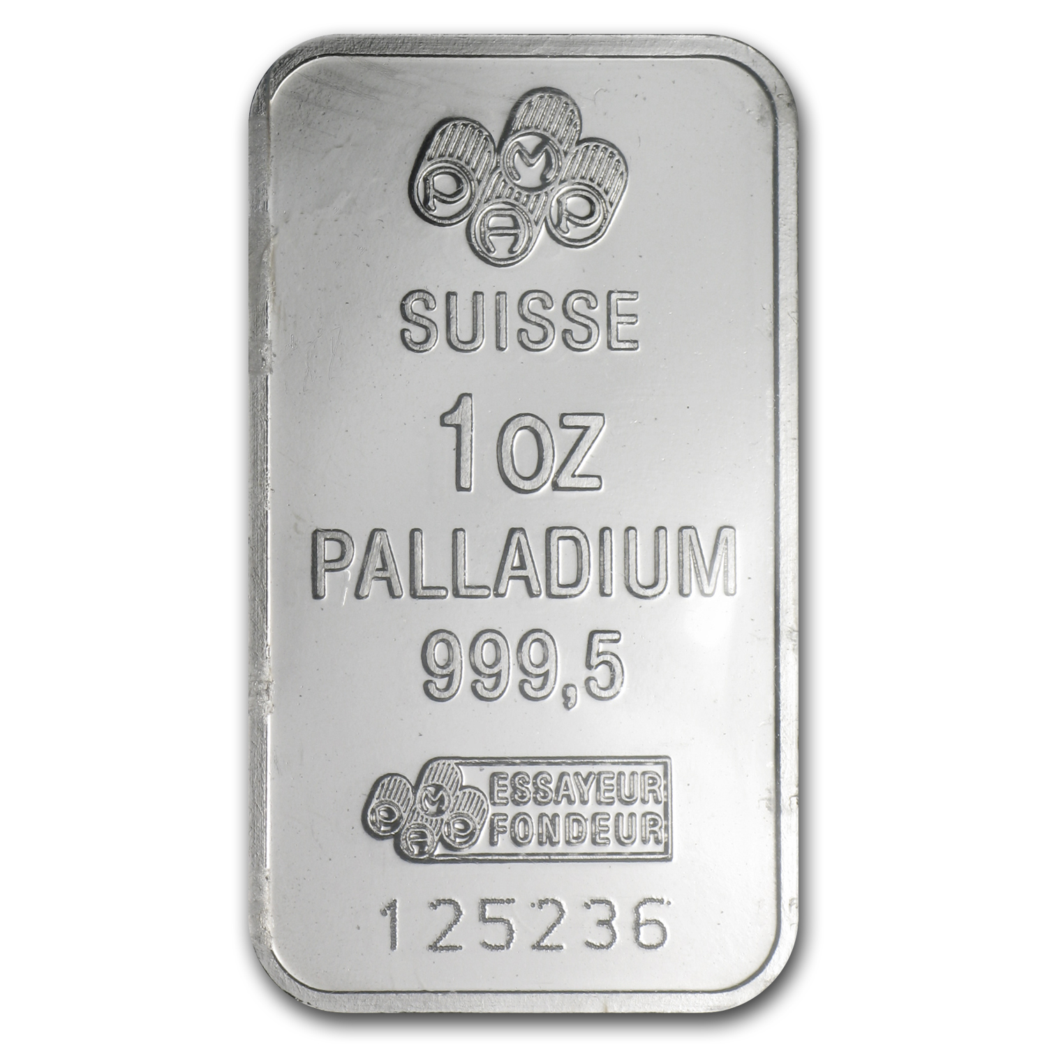 1 oz Pamp Suisse Palladium Bar (No Assay) .999+ Fine