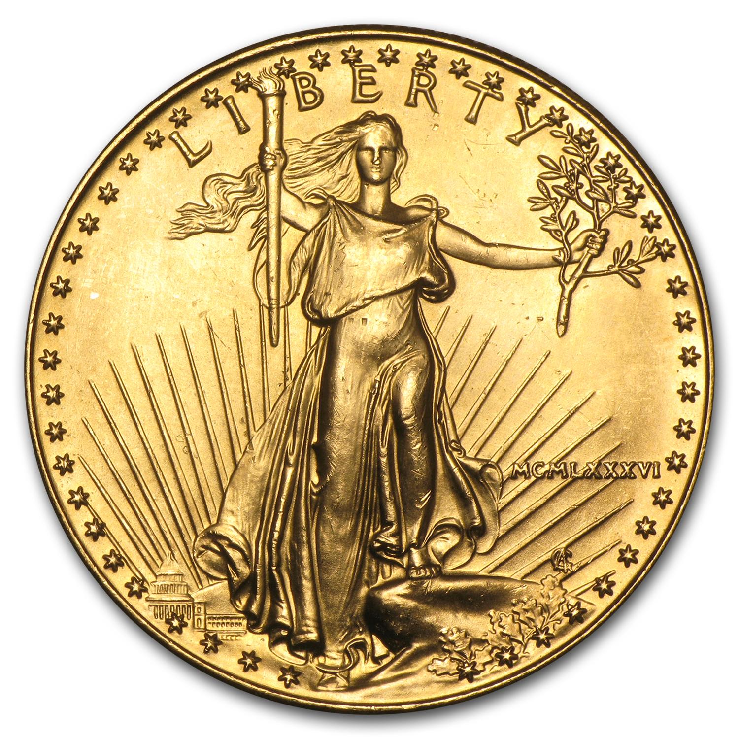 1 oz Gold American Eagle (Abrasions)