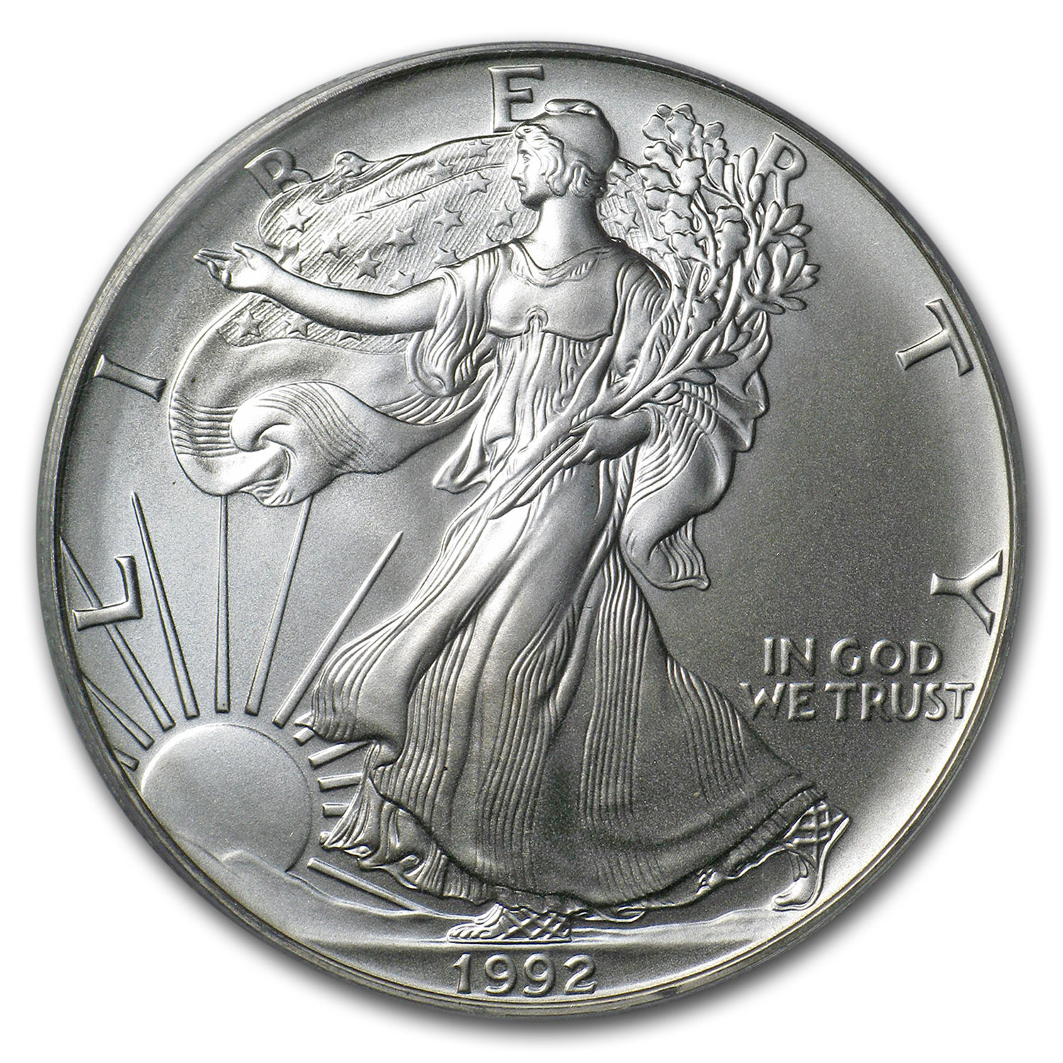 1992 Silver American Eagle MS-69 PCGS (First Strike)