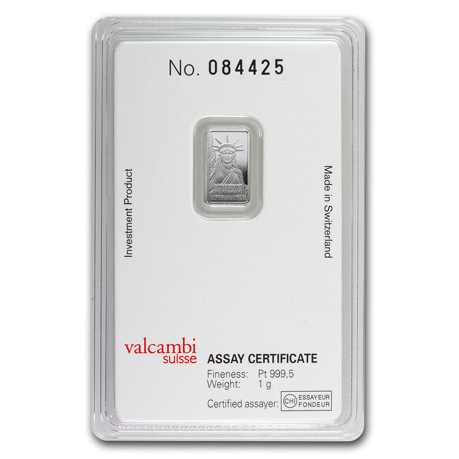 1 Gram Platinum Bar - Credit Suisse (In assay)