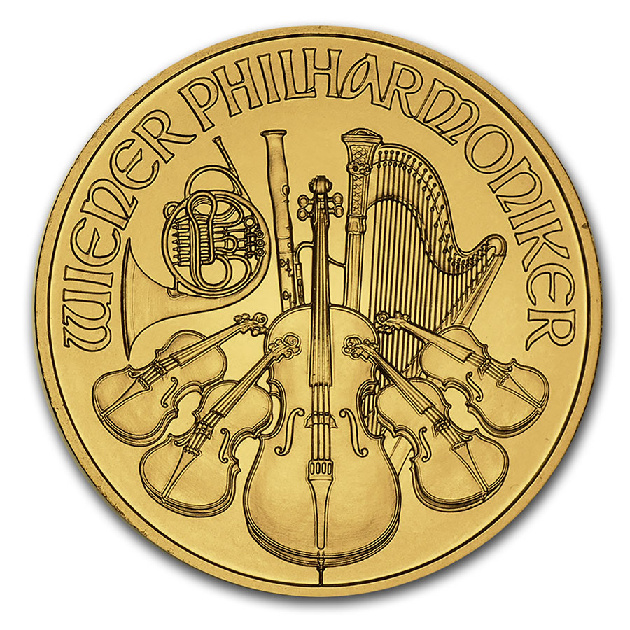 1/4 oz Gold Austrian Philharmonic (Random Year)