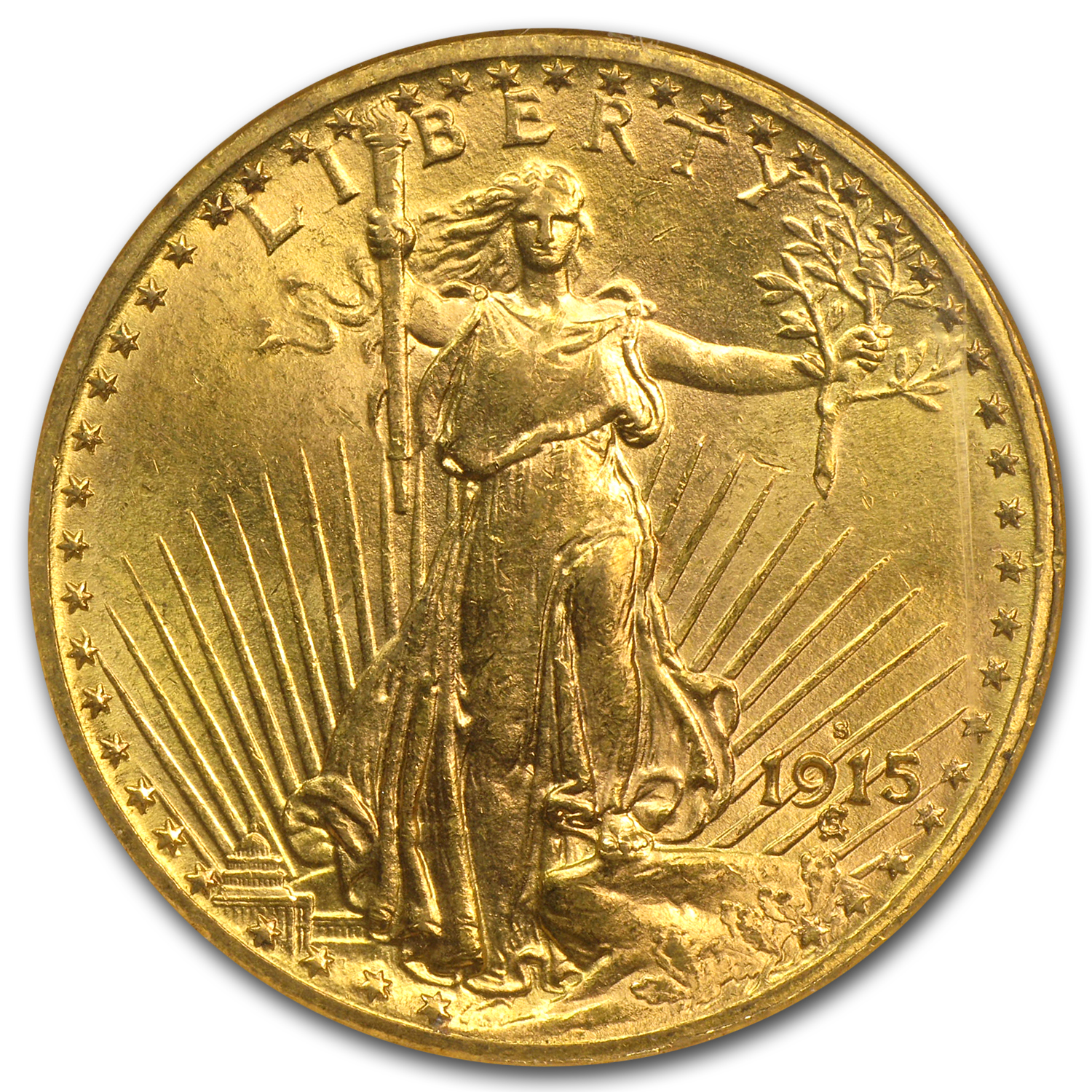 1915-S $20 Saint-Gaudens Gold Double Eagle MS-63 NGC