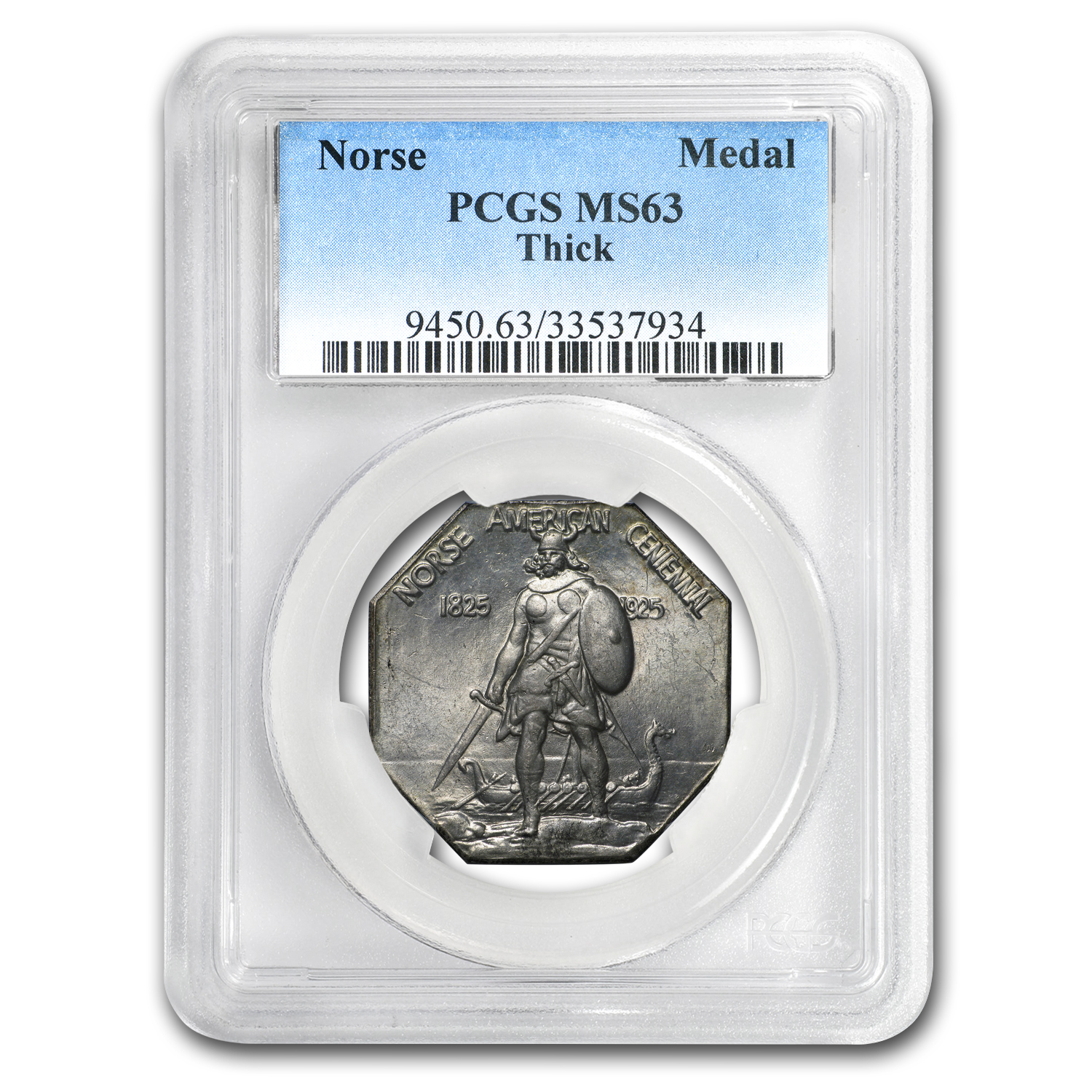 1925 Norse Medal Half Dollar MS-63 PCGS (Thick Planchet)