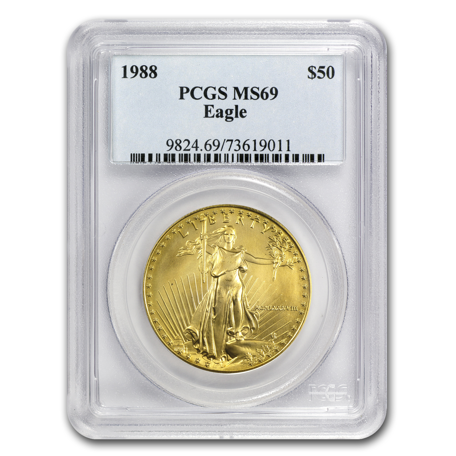 1988 1 oz Gold American Eagle MS-69 PCGS
