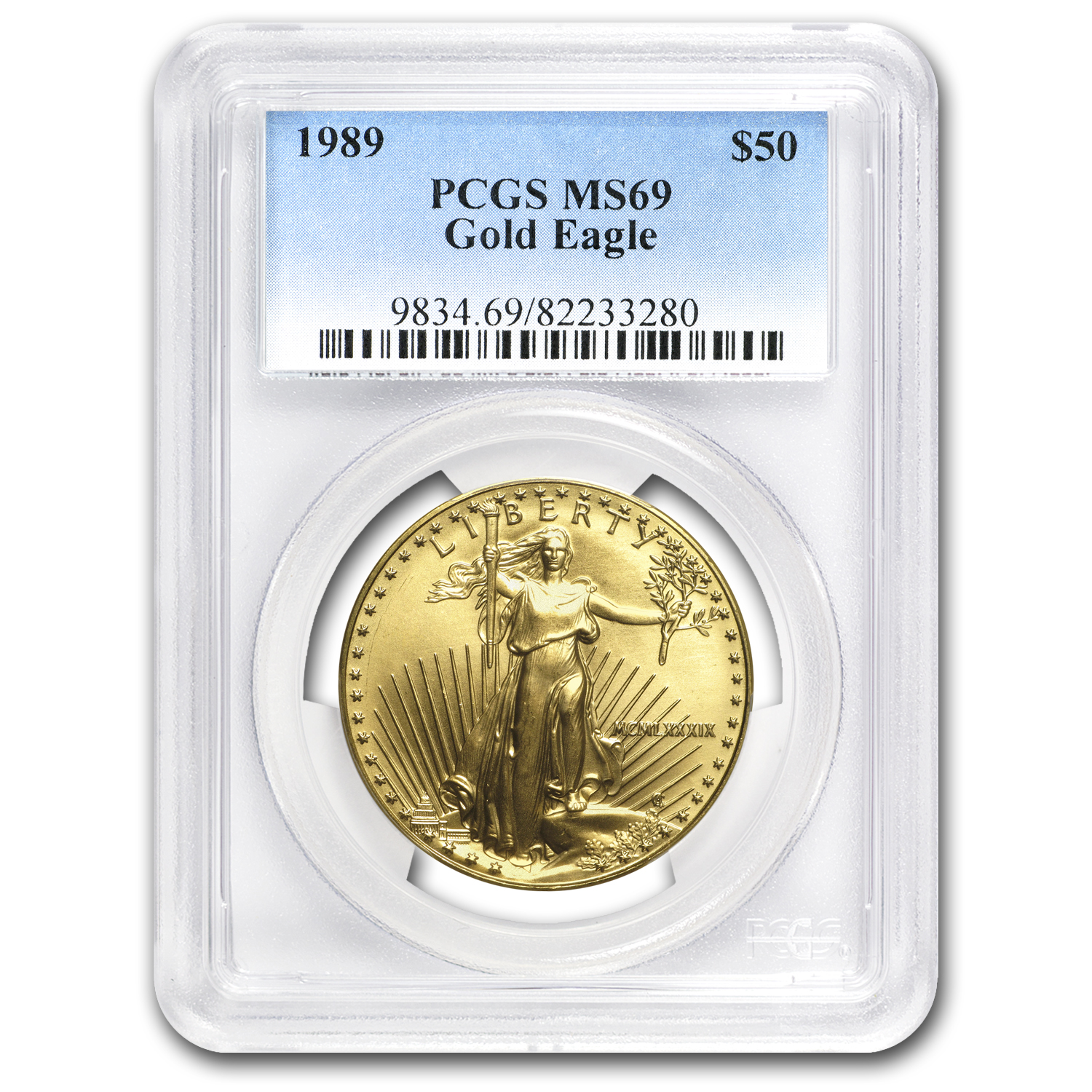 1989 1 oz Gold American Eagle MS-69 PCGS
