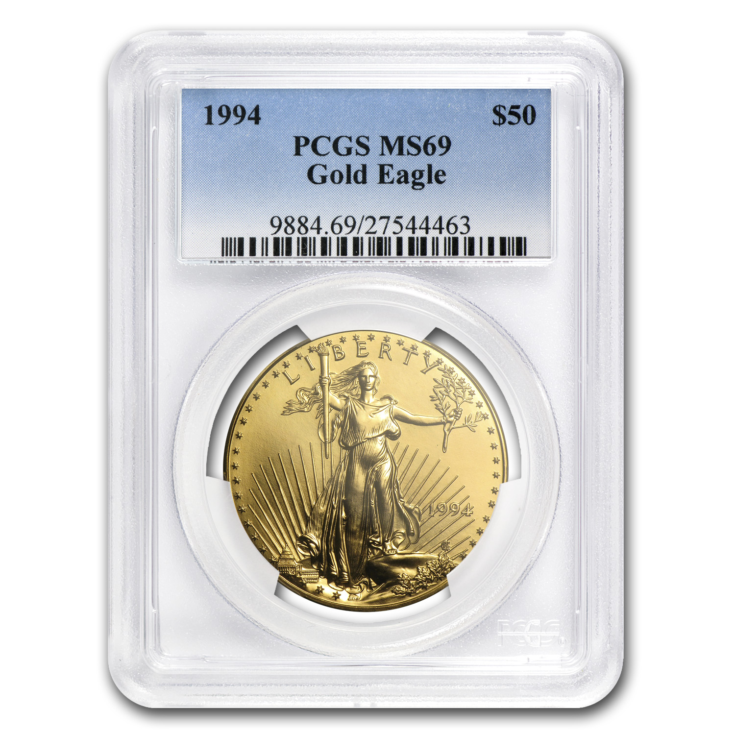 1994 1 oz Gold American Eagle MS-69 PCGS