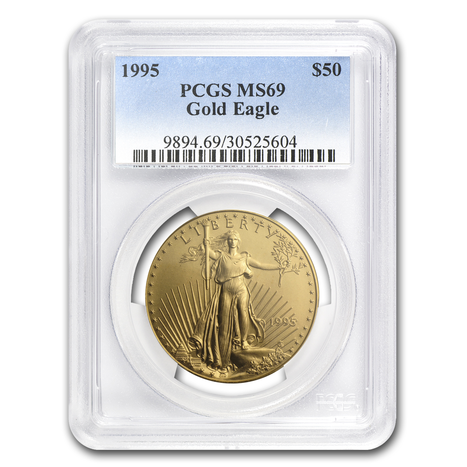 1995 1 oz Gold American Eagle MS-69 PCGS