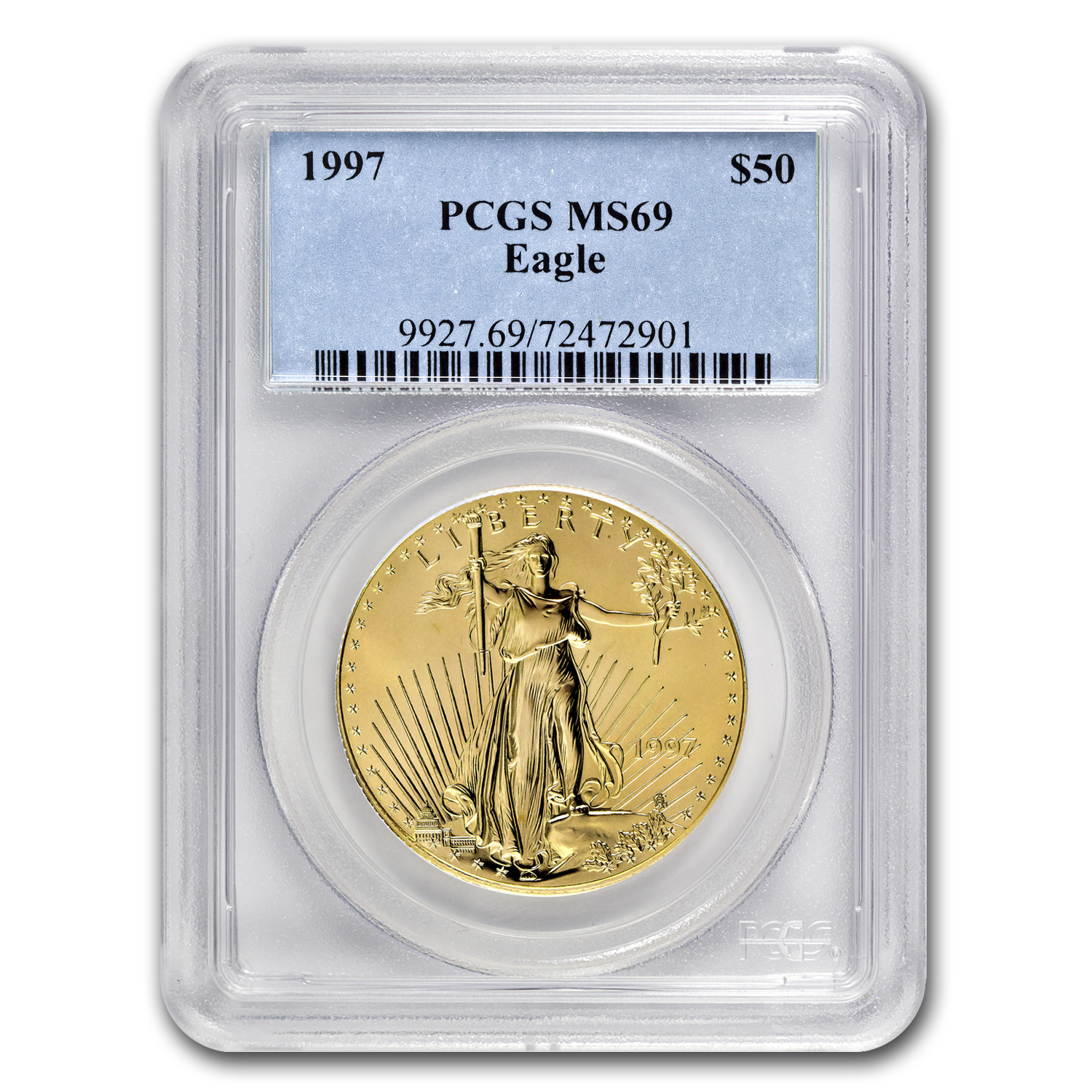 1997 1 oz Gold American Eagle MS-69 PCGS